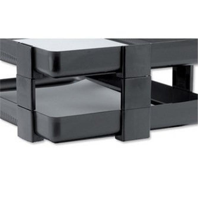 Rexel Agenda Classic Risers Self-locking for Letter Trays 53mm Charcoal Ref 25224 Pack 5