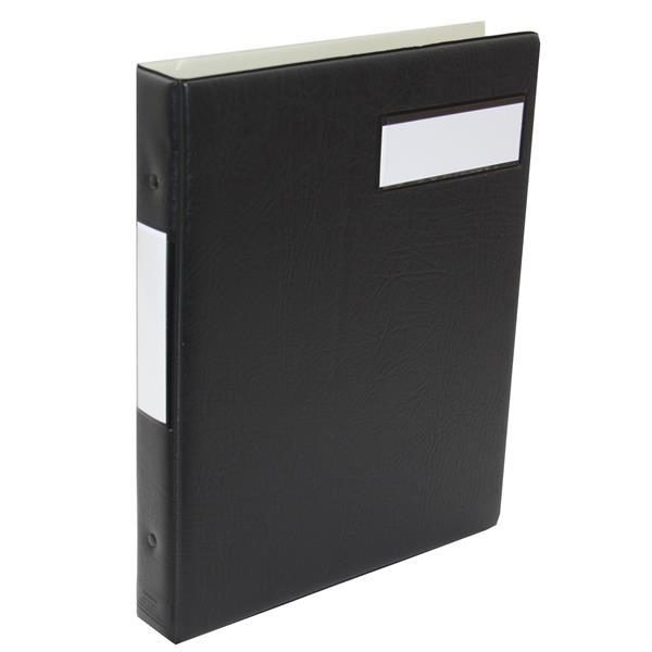 Accounts Binders & Refills Twinlock V4 Variform Binder Multiring 297x210mm Black Ref 75150