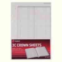 Twinlock 3C Crown Double Ledger Sheets 322x228mm Ref 75841 Pack 100