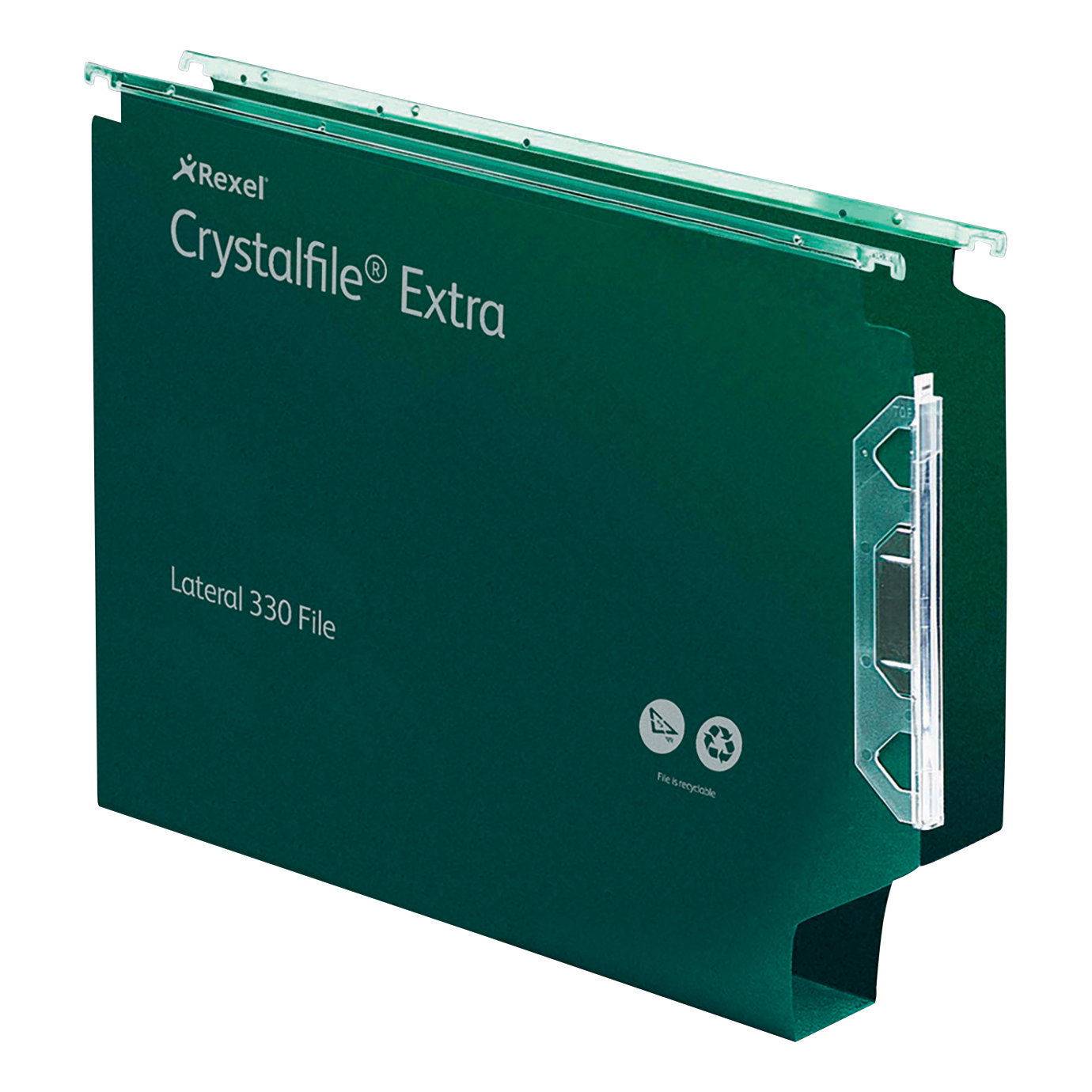 Lateral Files Rexel Crystalfile Extra Lateral File Polypropylene 30mm Wide-base Foolscap Green Ref 300122 Pack 25