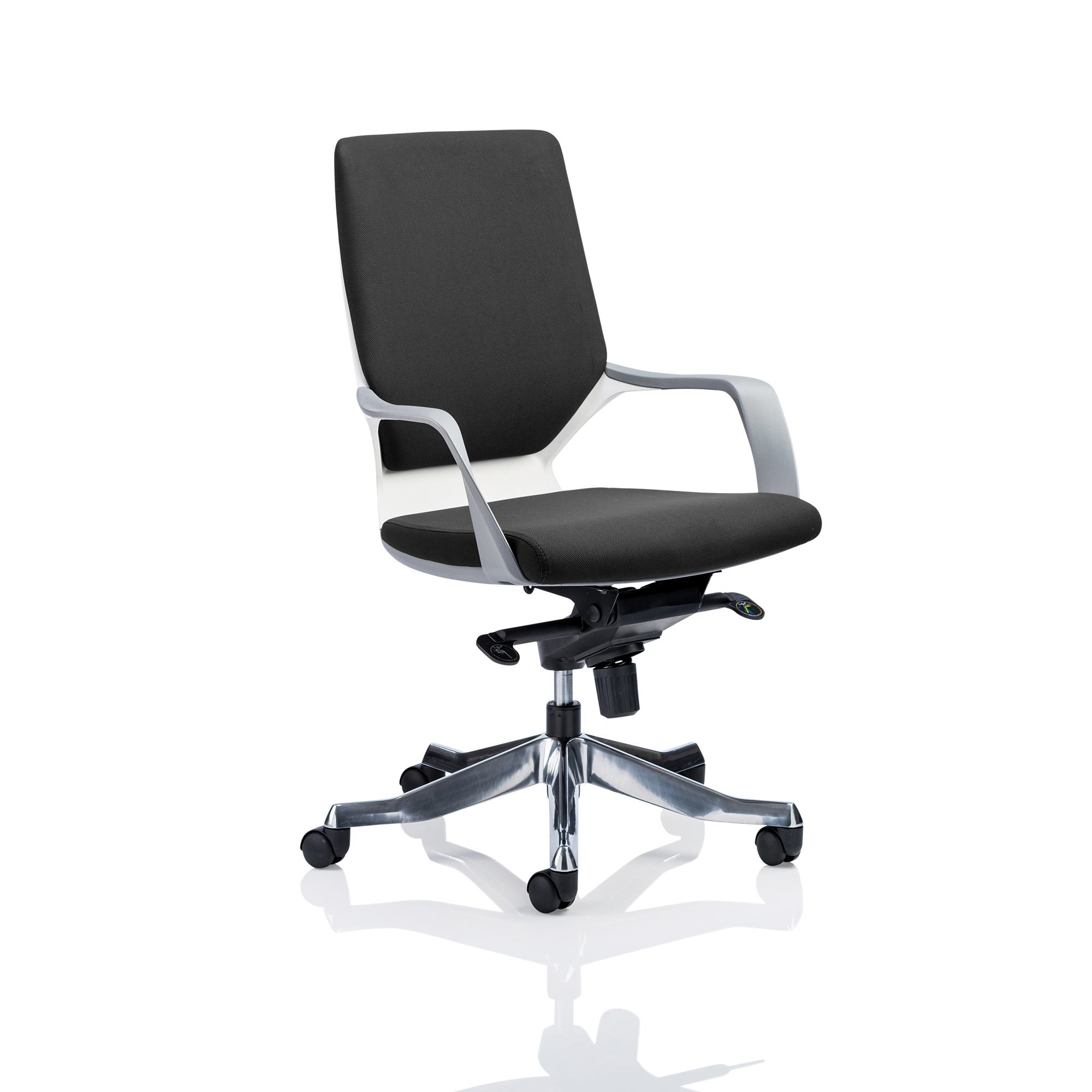 Adroit Xenon Executive With Arms Medium Back White Shell Fabric Black Ref EX000094