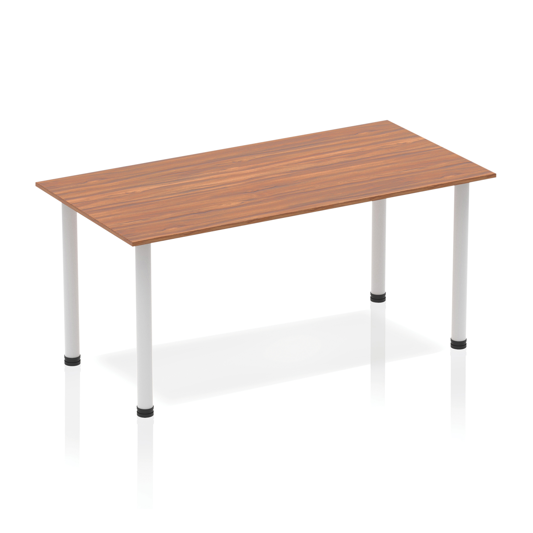 Trexus Straight Table Post Leg Silver 1400 Walnut Ref BF00185