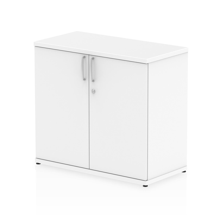 Trexus Desk High Cupboard 600mm Deep White Ref I000182