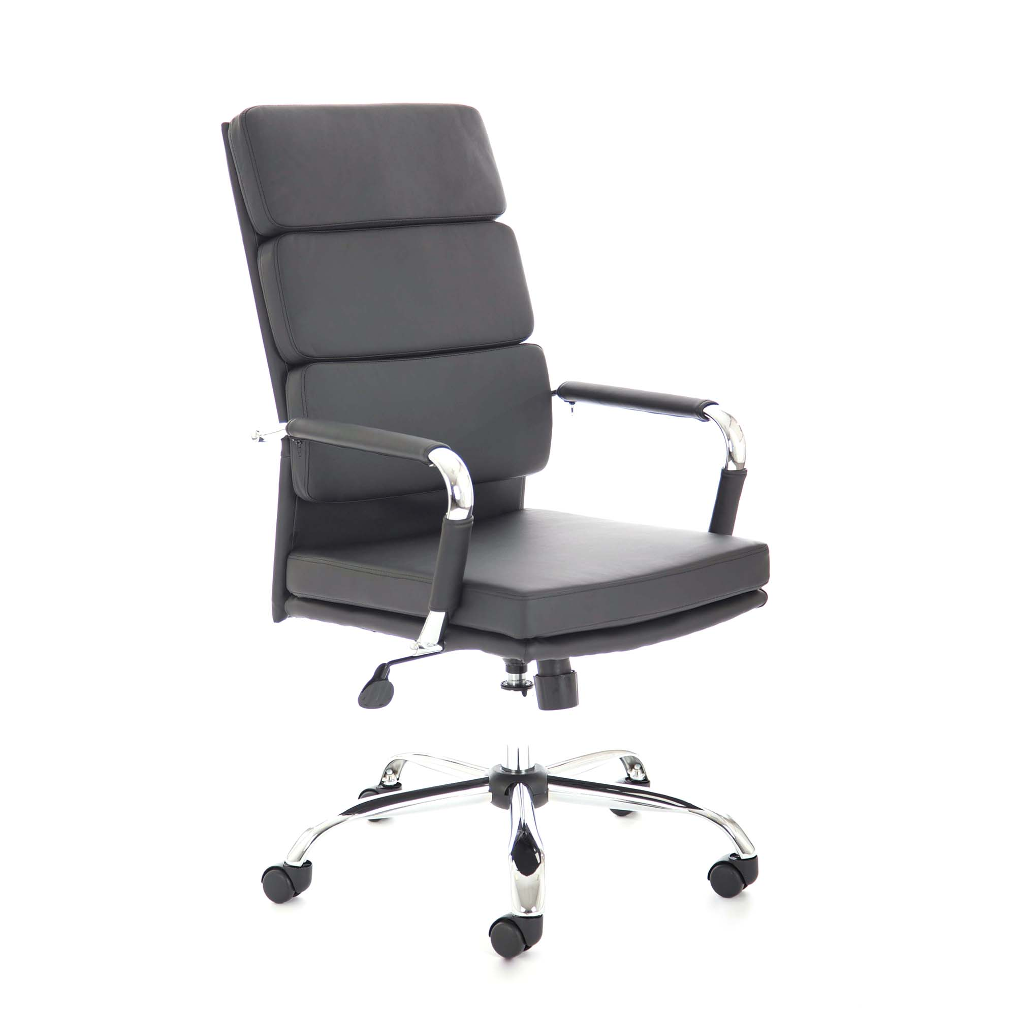 Adroit Advocate Executive Chair With Arms Bonded Leather Black Ref BR000204