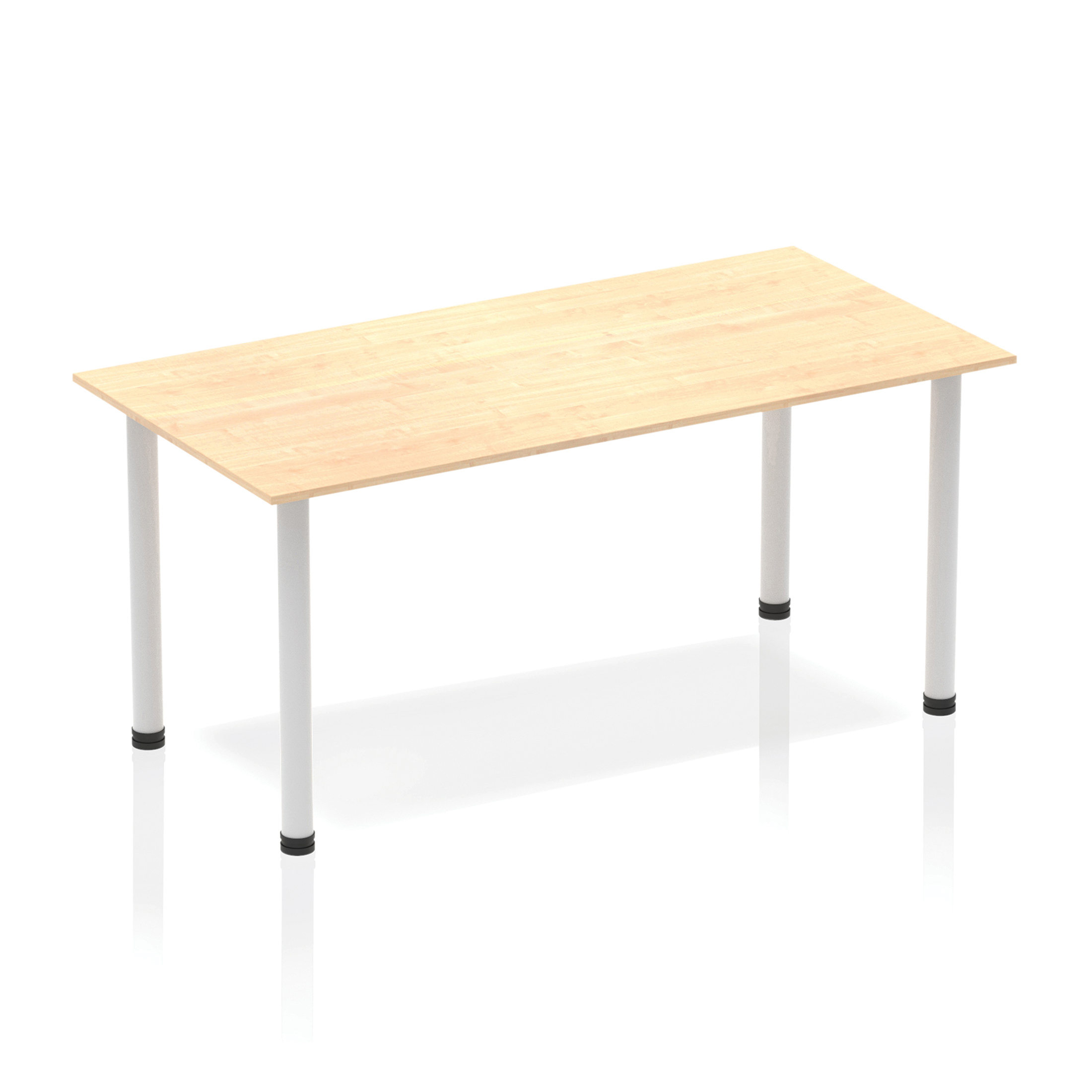 Trexus Straight Table Post Leg Silver 1400 Maple Ref BF00191