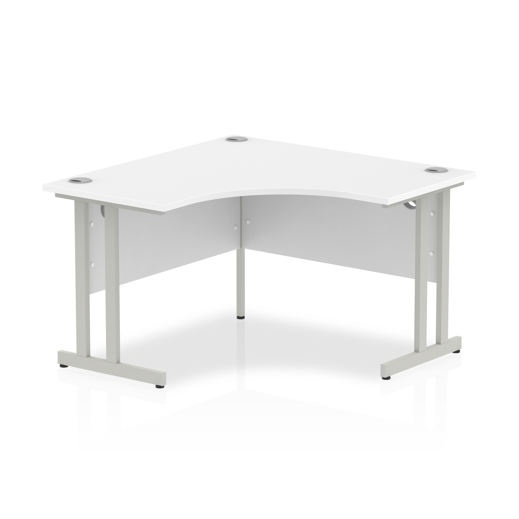 Trexus Call Centre Desk Cantilever 1200x1200 White Ref I000318