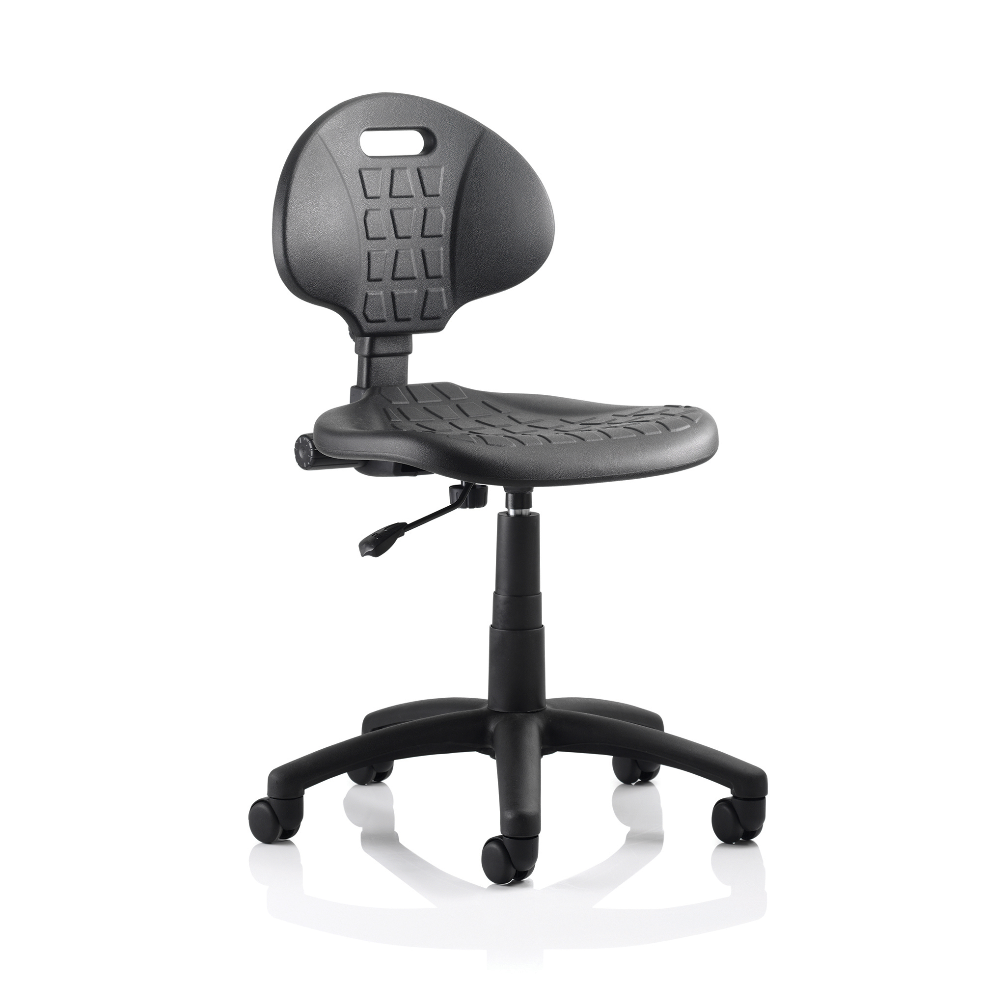 Trexus Malaga Task Operator Chair Wipe Clean Polyurethane Seat And Back Without Arms Black Ref OP000088