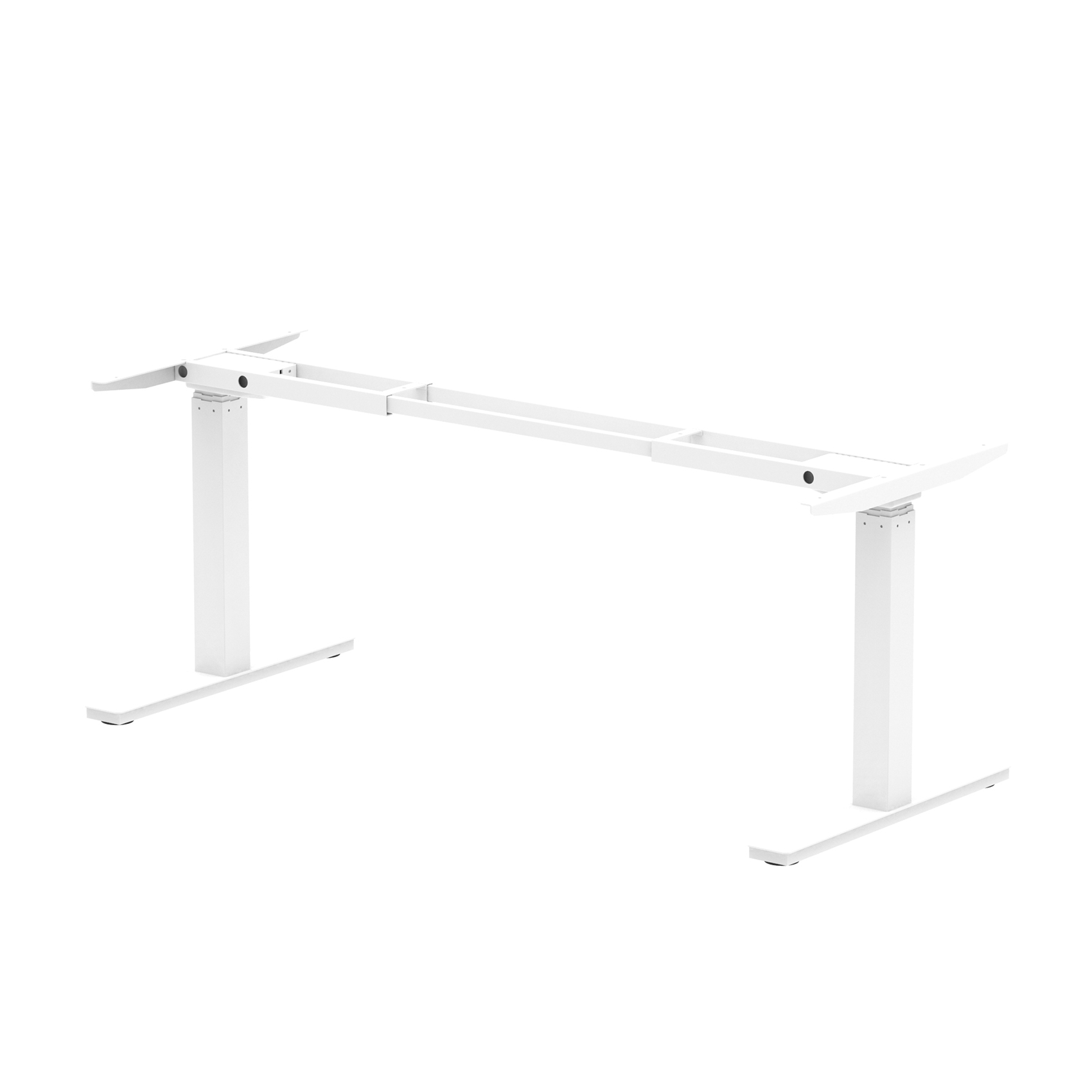 CPU stand Trexus Sit Stand Leg Pack 1600mm width White Ref HA0002
