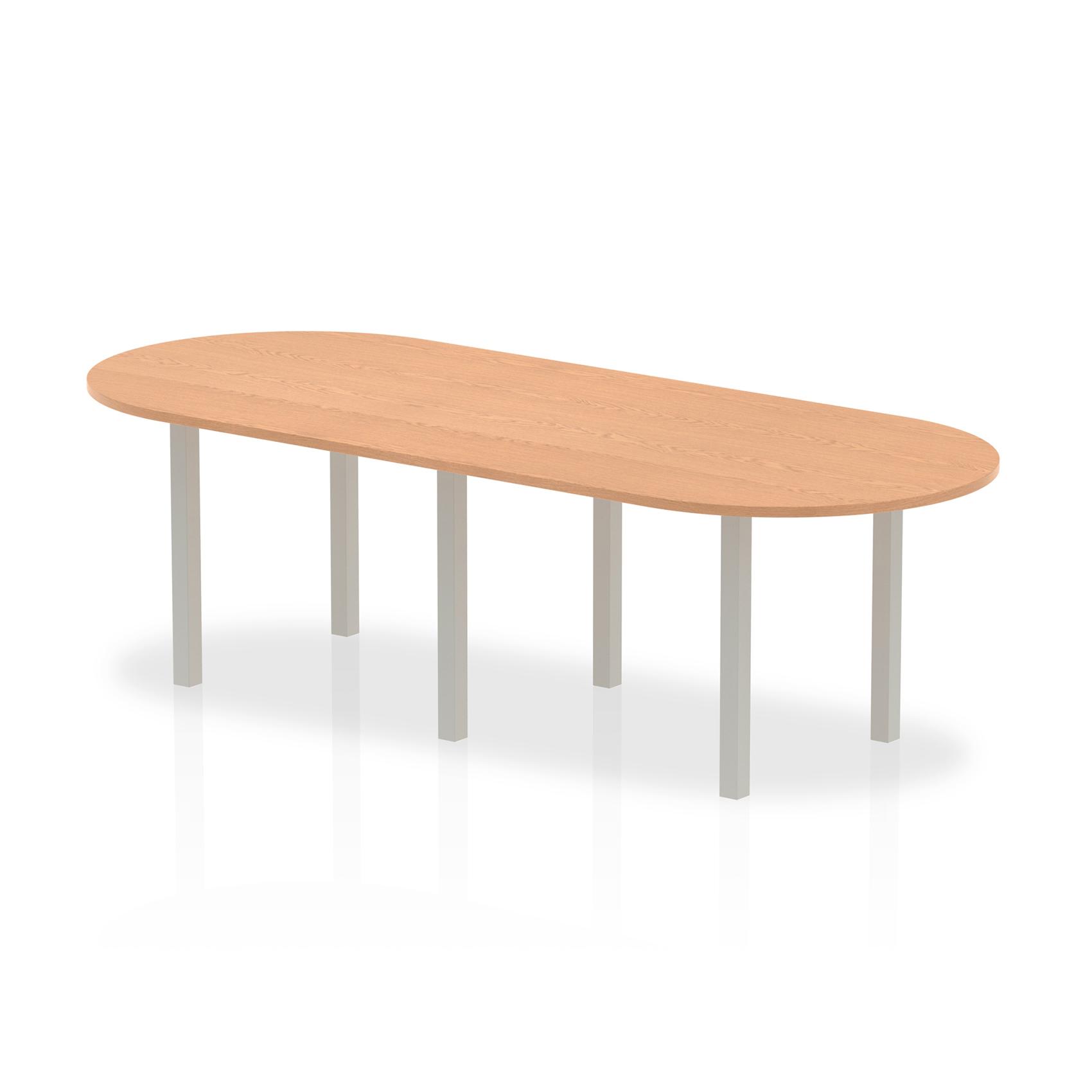 Trexus Boardroom Table 2400x1200x730mm Oak Ref I000792