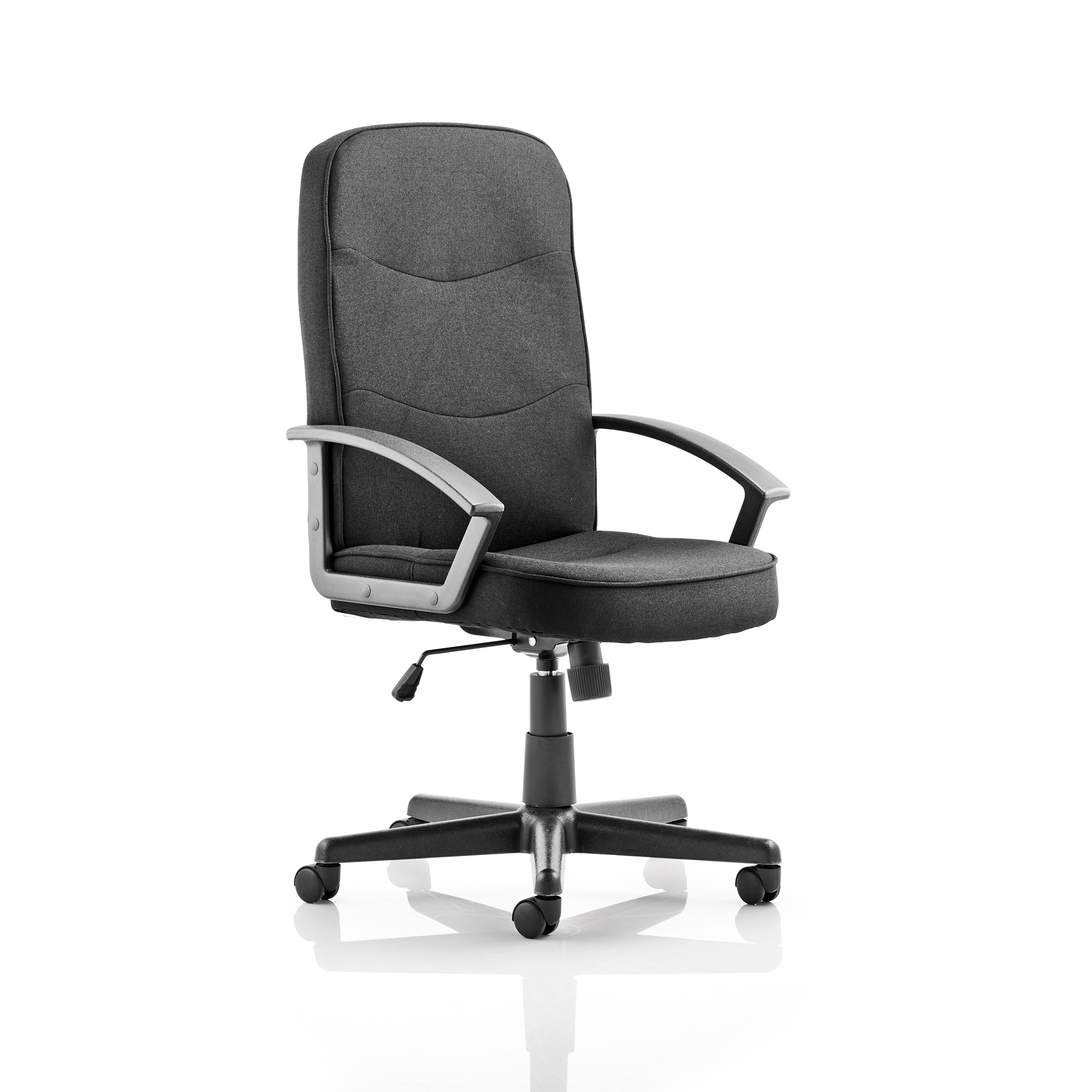 Trexus Harley Executive Chair With Arms Fabric Black Ref EX000034
