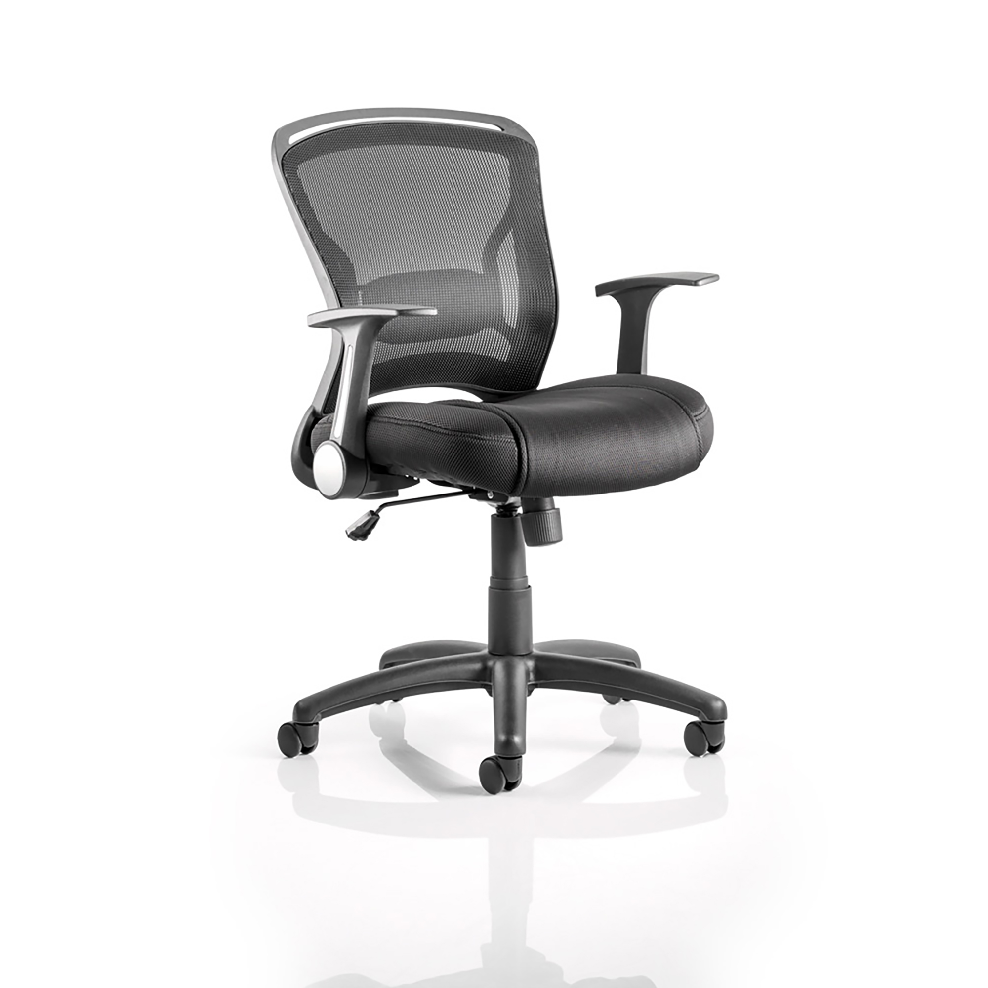 Trexus Zeus Task Operator Chair With Arms Black Fabric Mesh Back Black Ref OP000140