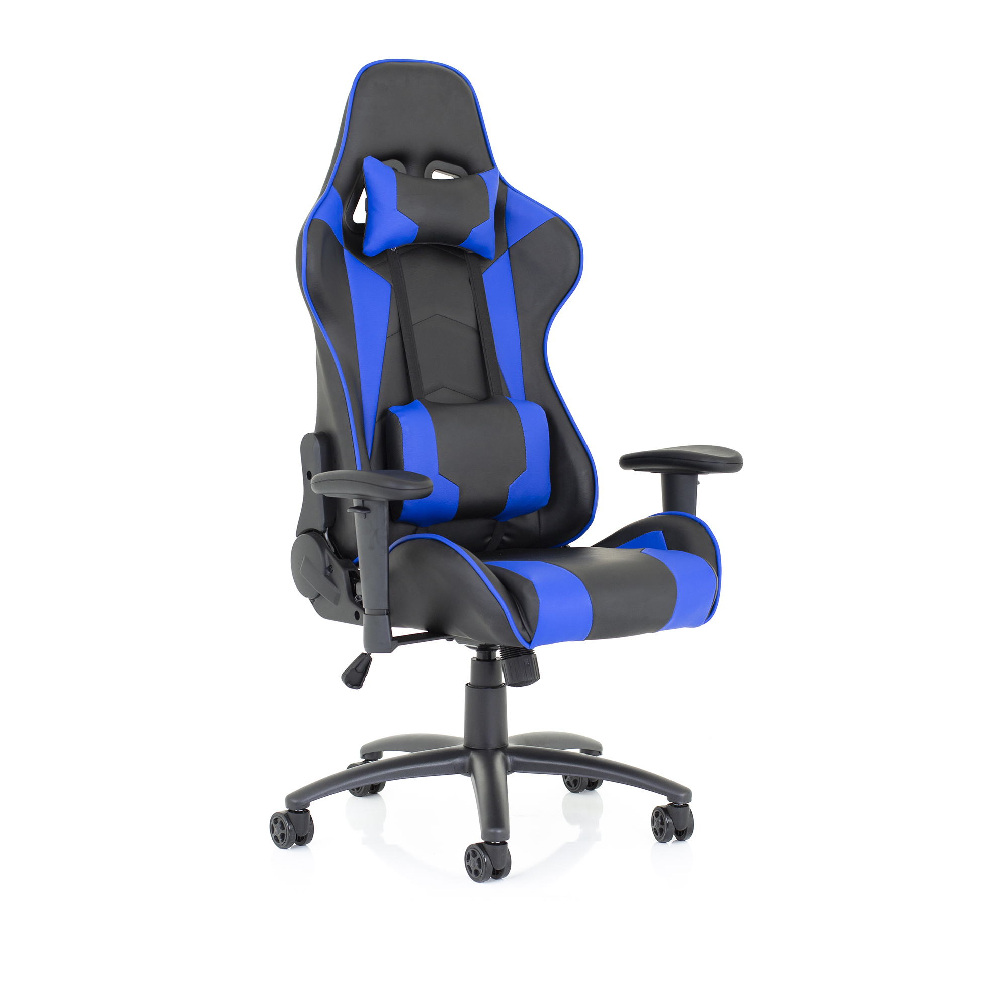 Trexus Ascari Racing Chair Bonded Leather Blue and Black Ref EX000207
