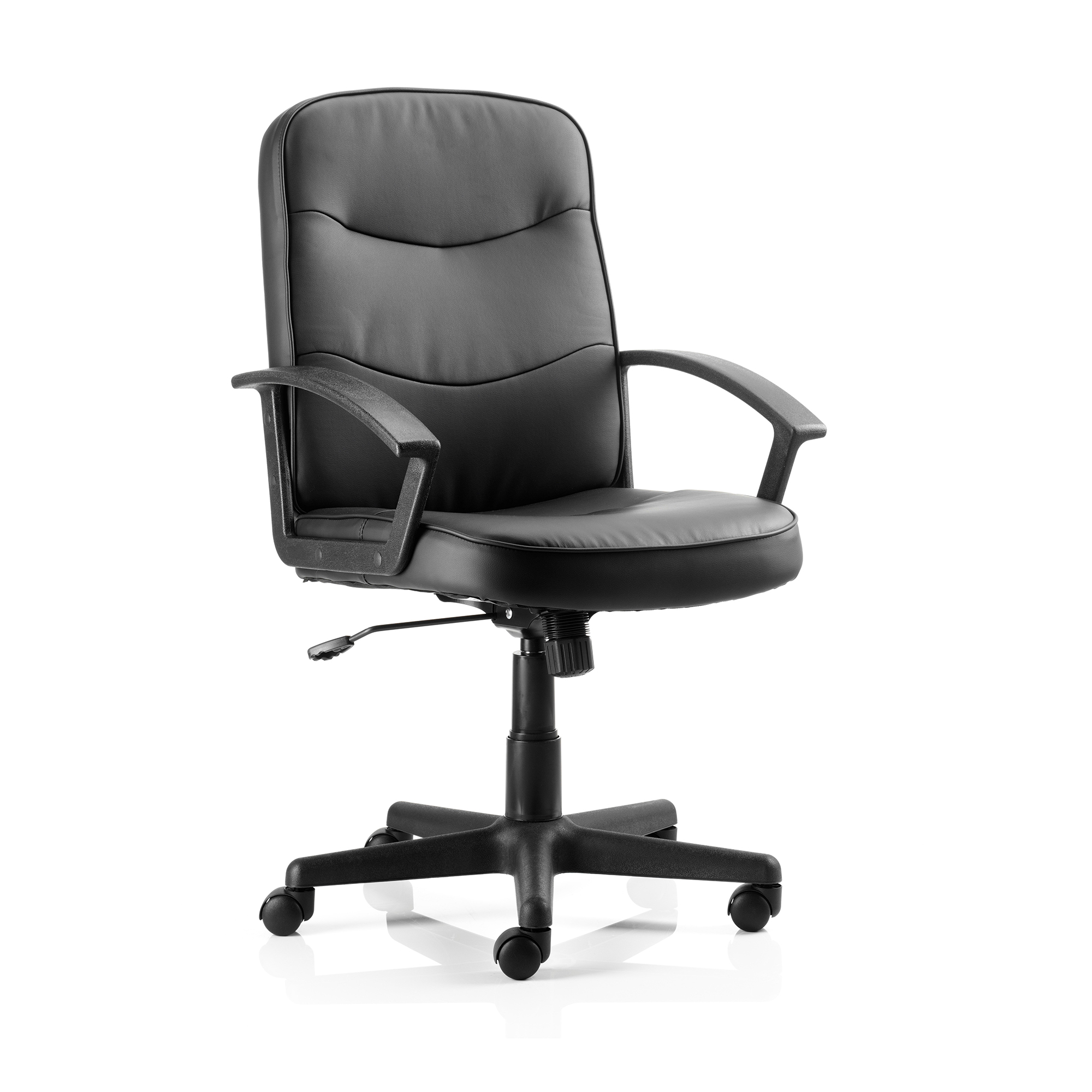 Trexus Harley Executive Chair With Arms Leather Black Ref EX000038