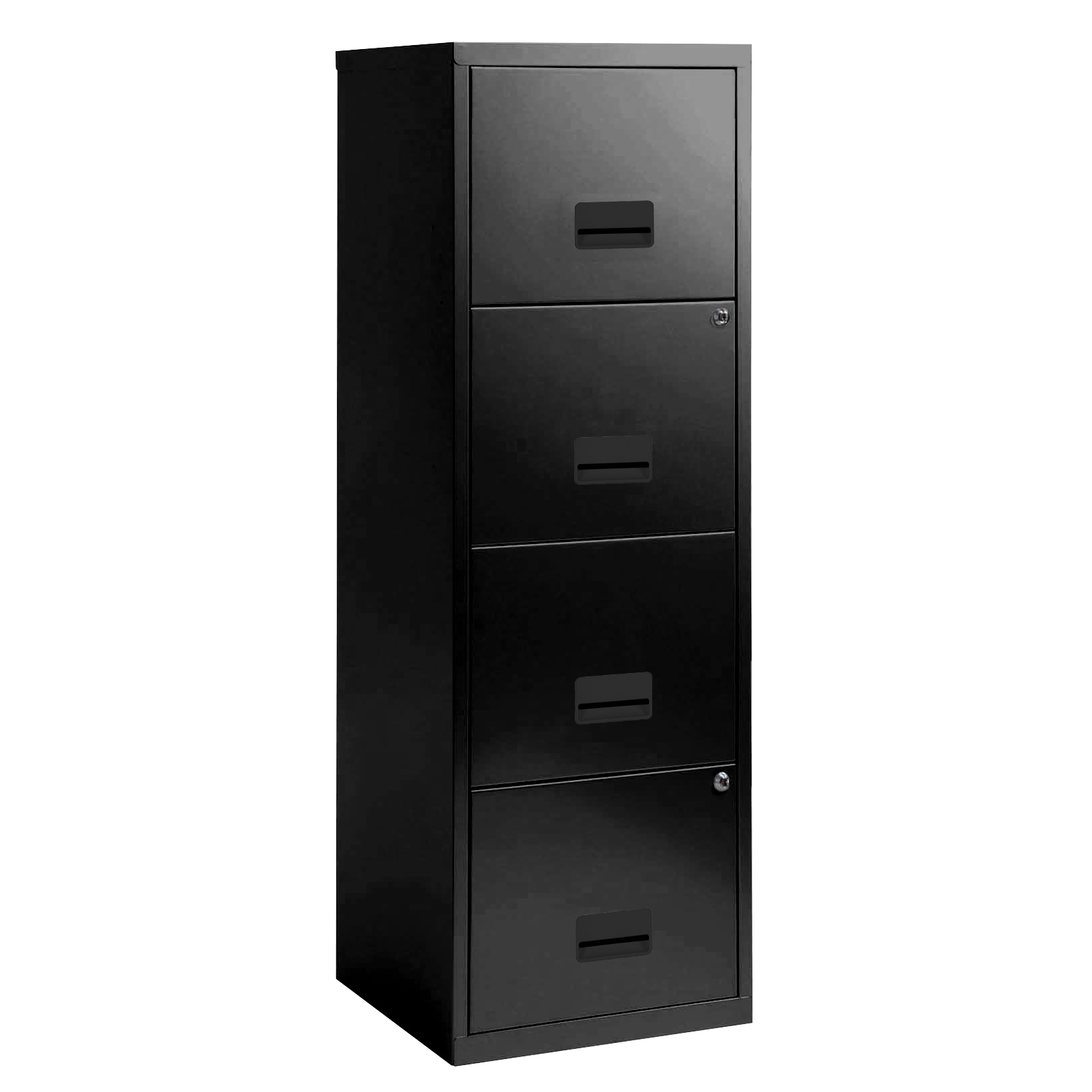 Filing cabinets or accesories Filing Cabinet Steel 4 Drawer A4 400x400x1250mm Ref 95057