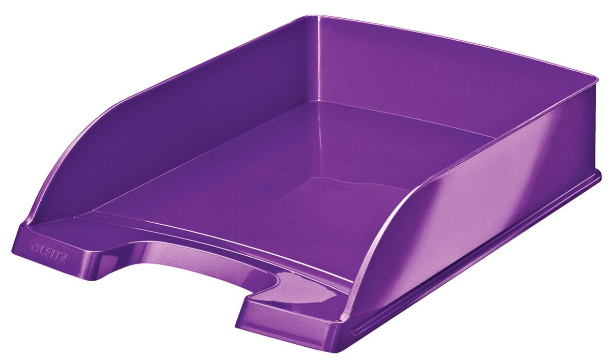 Image for Leitz WOW Letter Tray Purple Ref 52260062