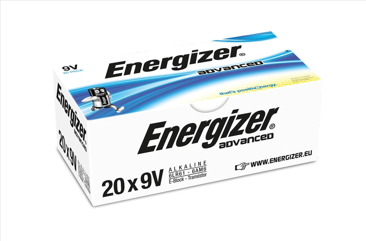Image for Energizer Eco Advanced Batteries 9V / 522 Ref E300488300 [Pack 20]