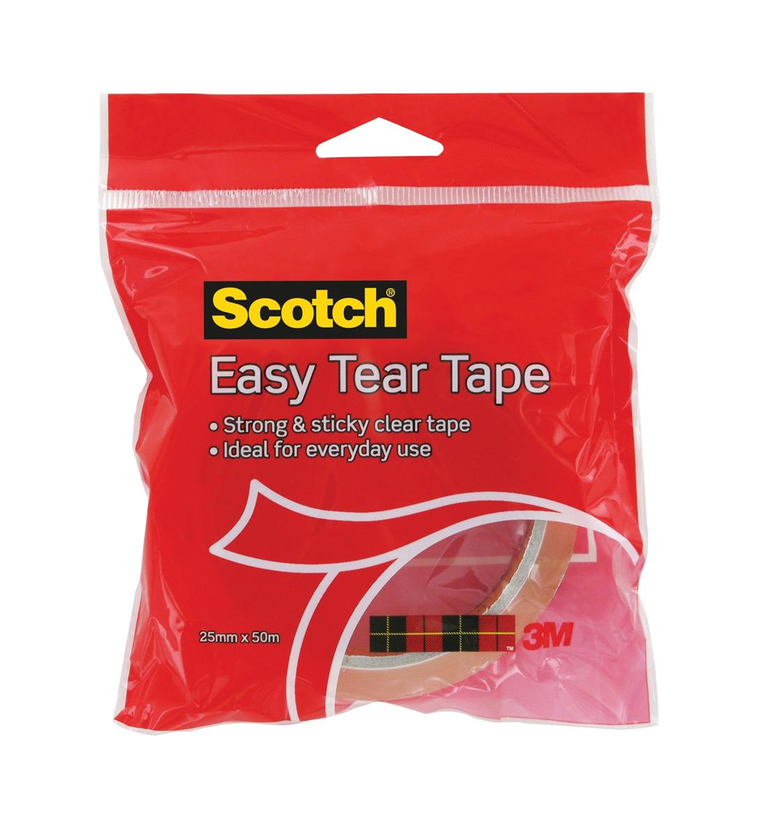 Image for Scotch Easy Tear Tape 25mm x 50m Ref ET2550