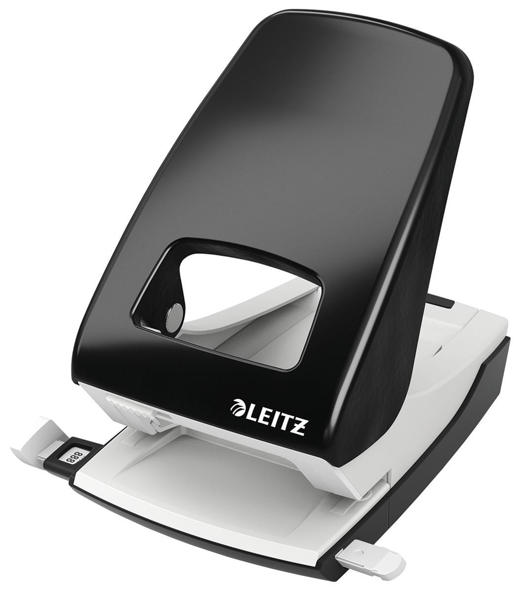 Image for Leitz NeXXt Hole Punch 4mm 40 Sheet Black Ref 51380095