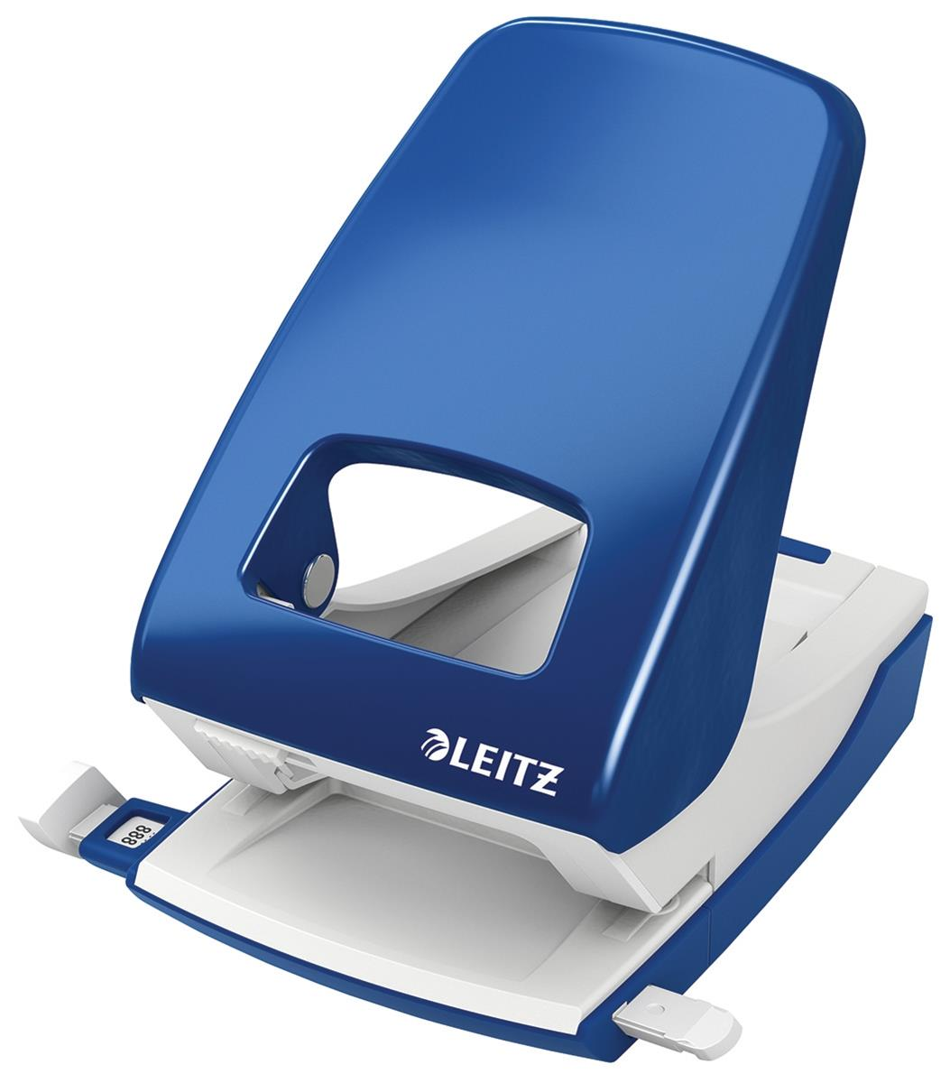 Image for Leitz NeXXt Hole Punch 4mm 40 Sheet Blue Ref 51380035