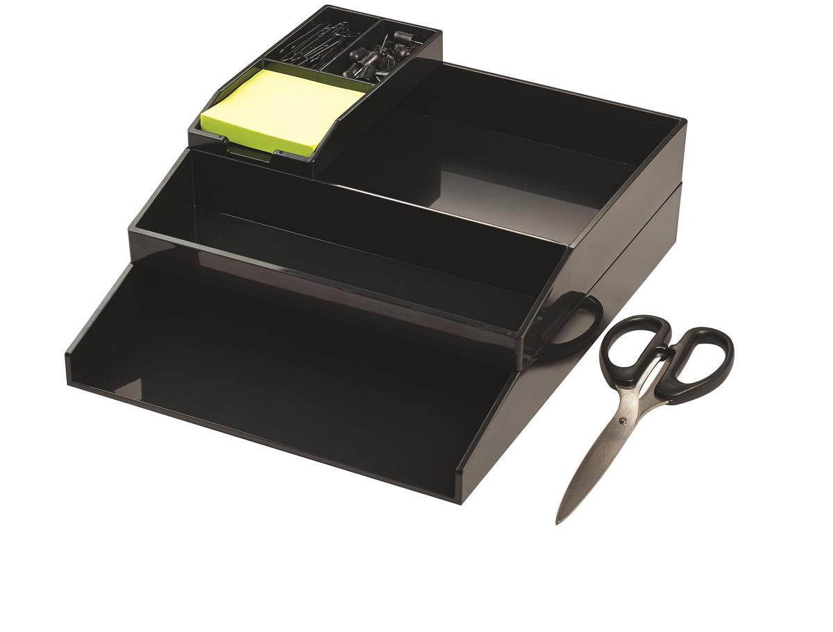 Image for Avery ColorStak Office Desk Set Black Ref CS504
