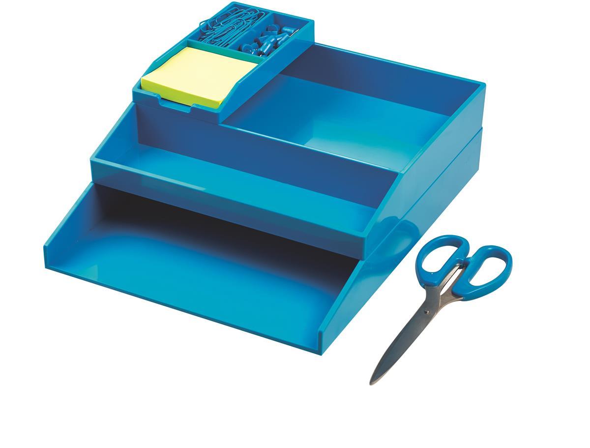 Image for Avery ColorStak Office Desk Set Blue Ref CS502