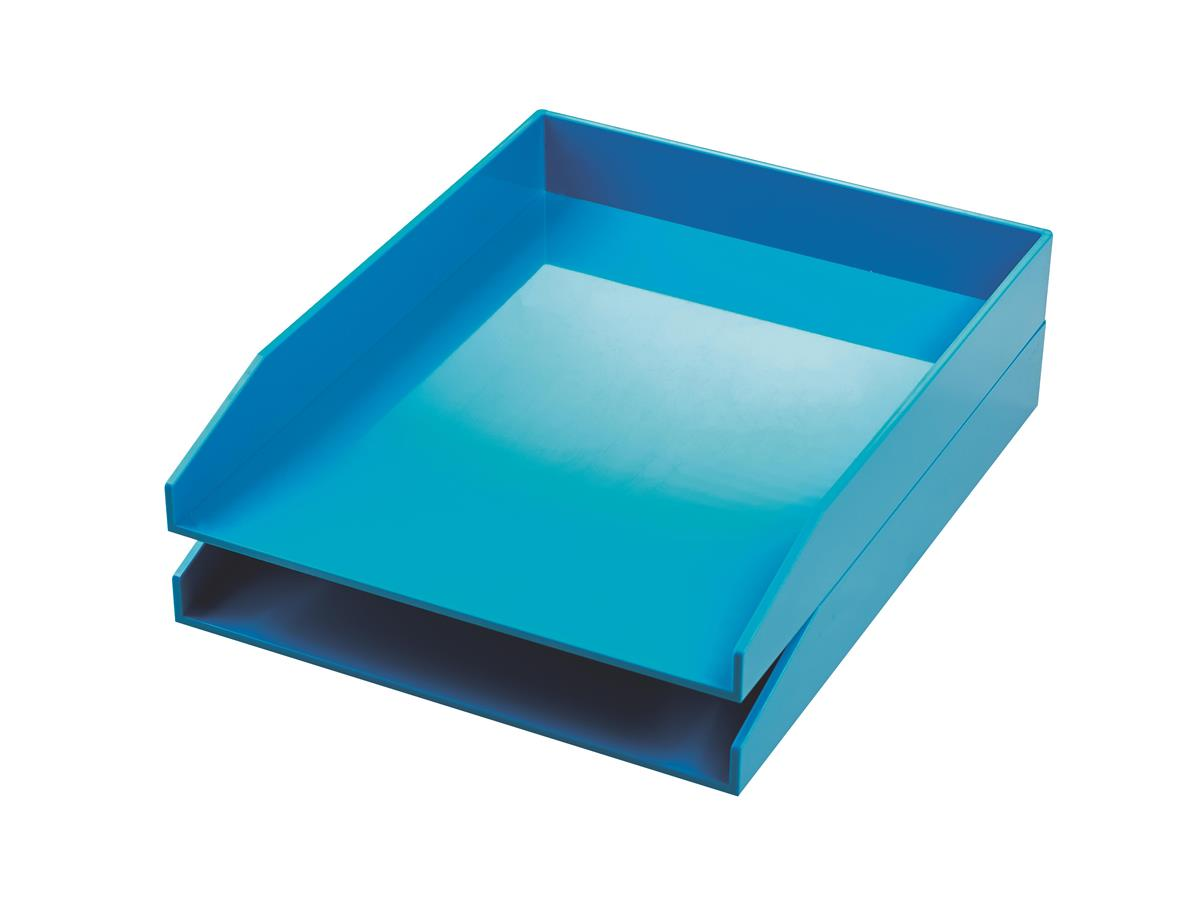 Image for Avery ColorStak Letter Tray Blue Ref CS102 [Pack 2]