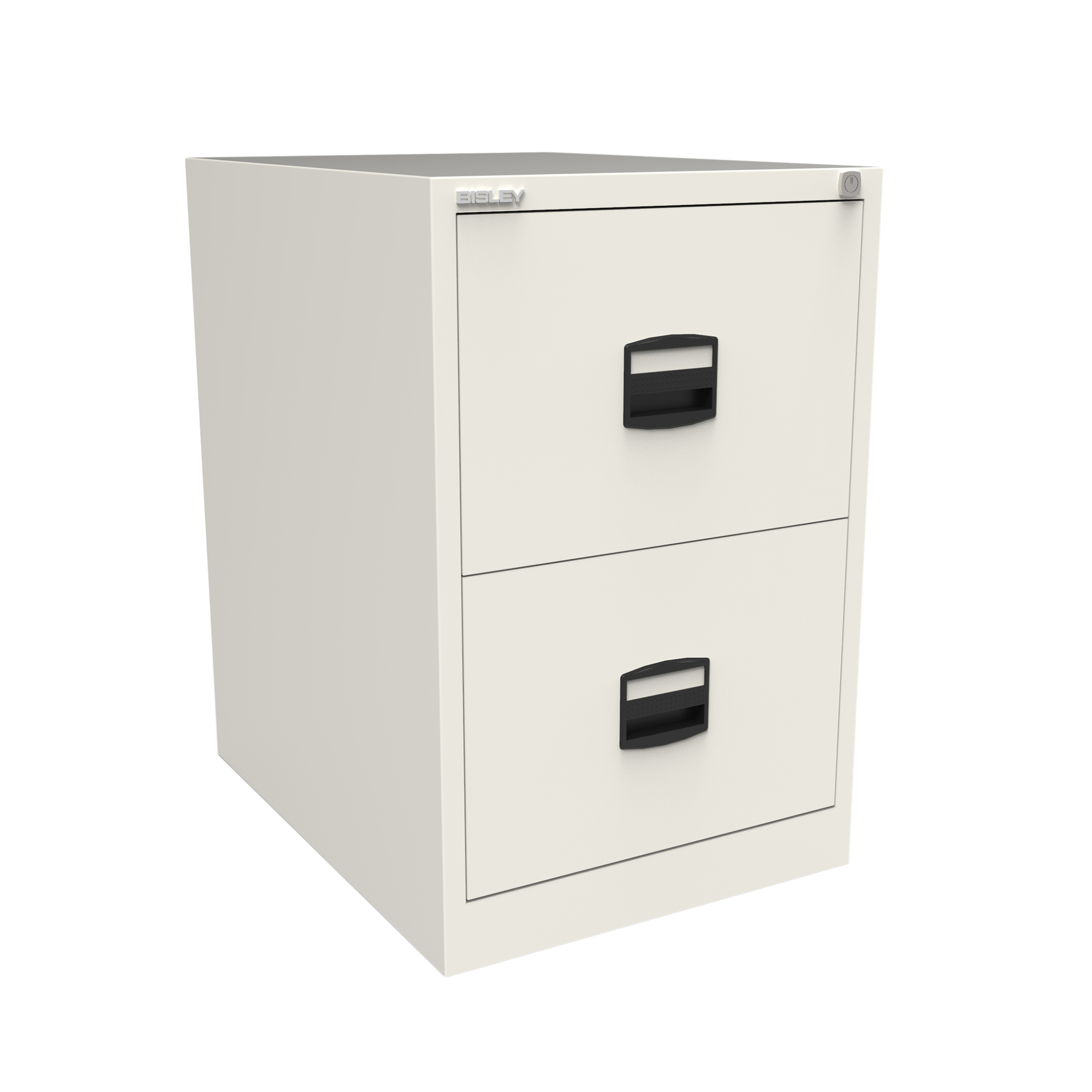 Trexus 2 Drawer Filing Cabinet 470x622x711mm Chalk White Ref CC2H1A-ab9