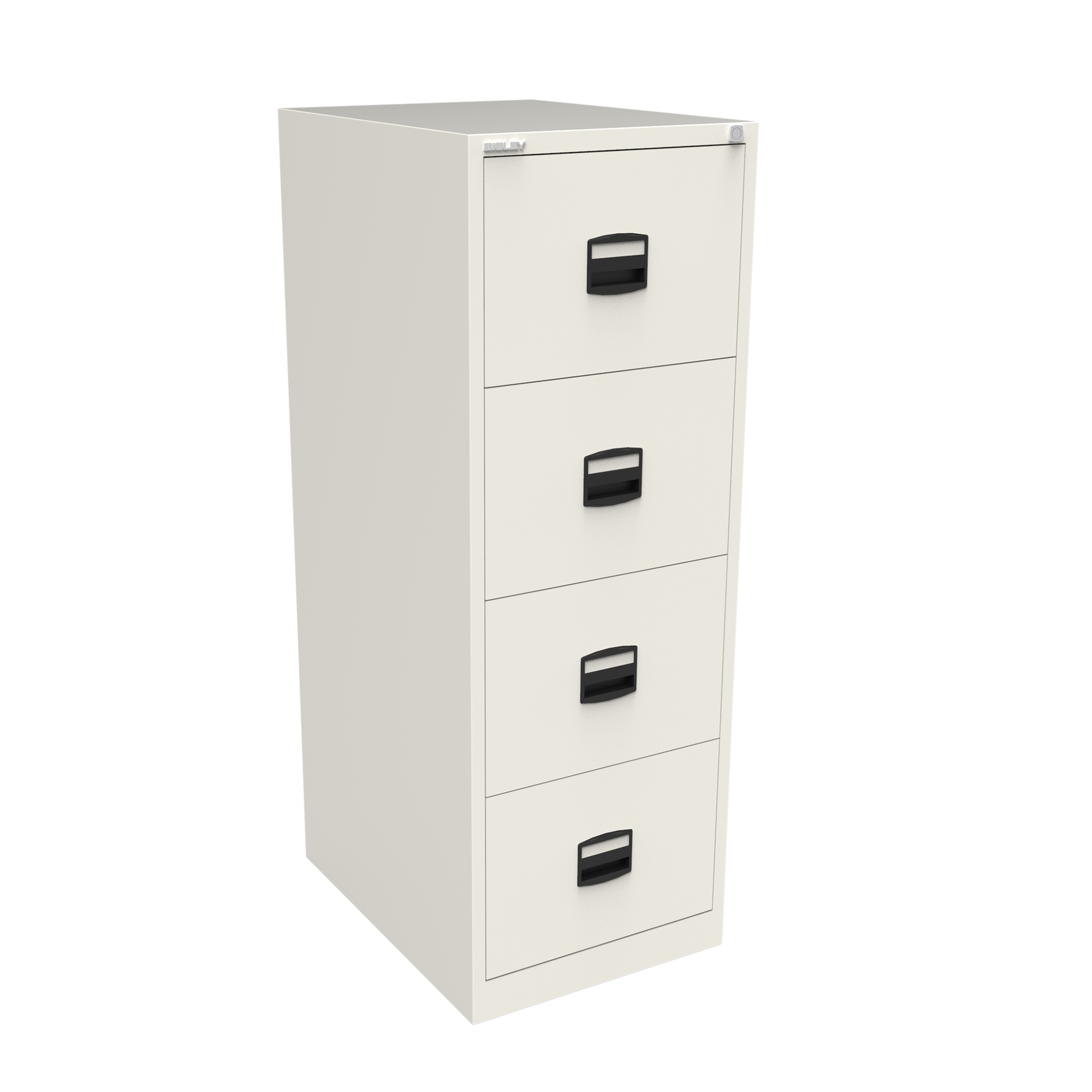 Filing cabinets or accesories Trexus 4 Drawer Filing Cabinet 470x622x1321mm Chalk White Ref CC4H1A-ab9