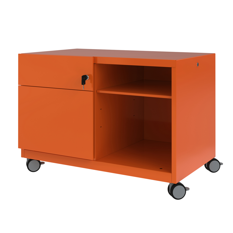 Bisley Caddy Pedestal Left Hand 800x490x563 Orange Ref CADM08LH-bn6