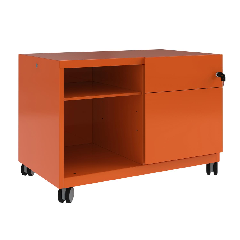 Pedestals Bisley Caddy Pedestal Right Hand 800x490x563 Orange Ref CADM08RH-bn6