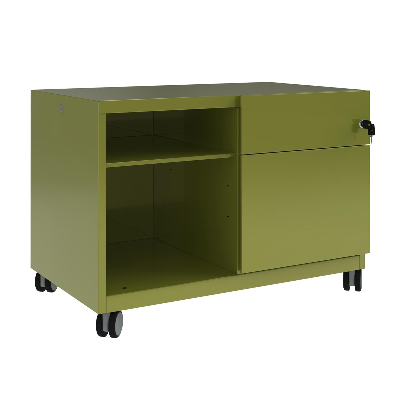 Bisley Caddy Pedestal Right Hand 800x490x563 Green Ref CADM08RH-bh2