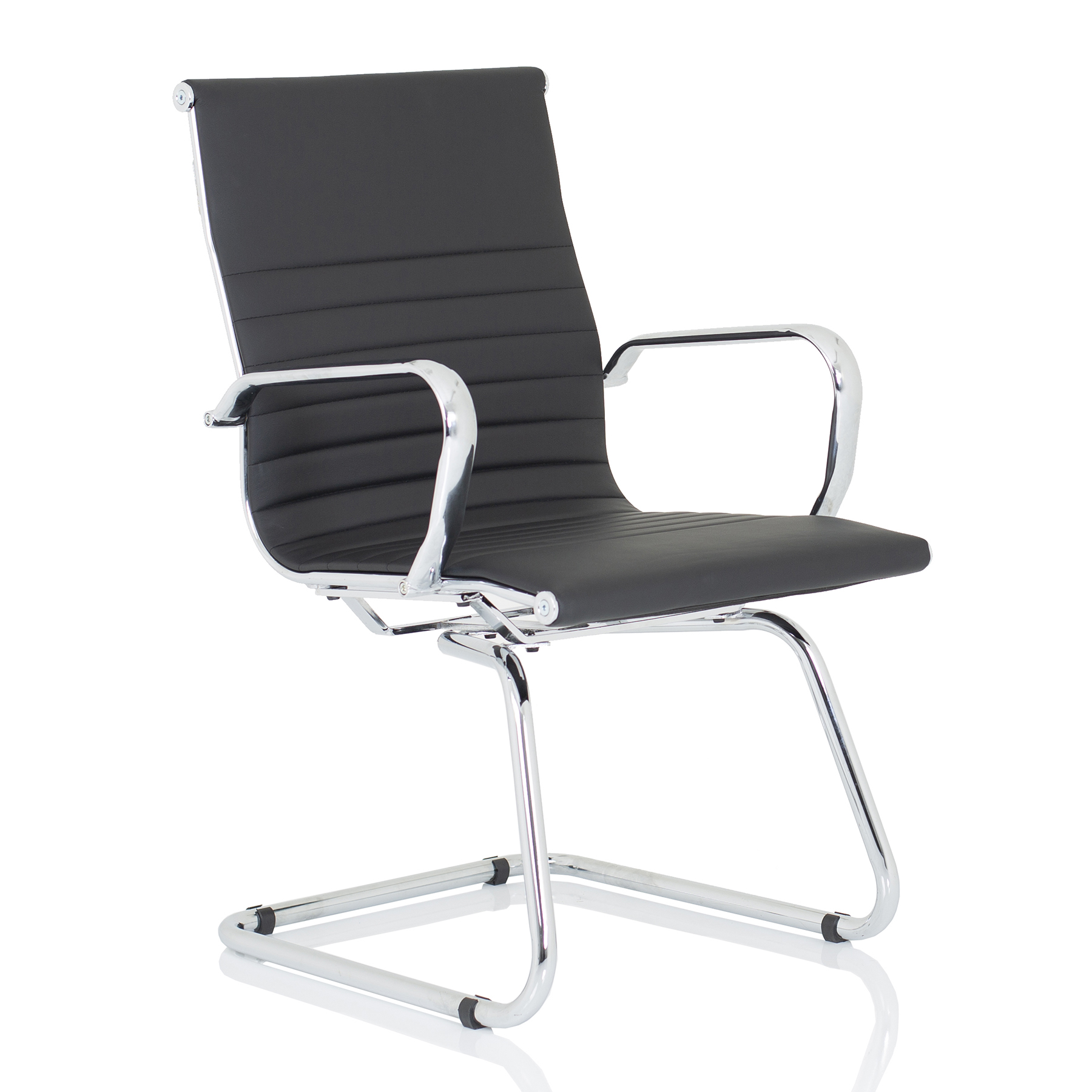 CHAIR OF THE WEEK Nola Italian Inspired Cantilever Black Leather
