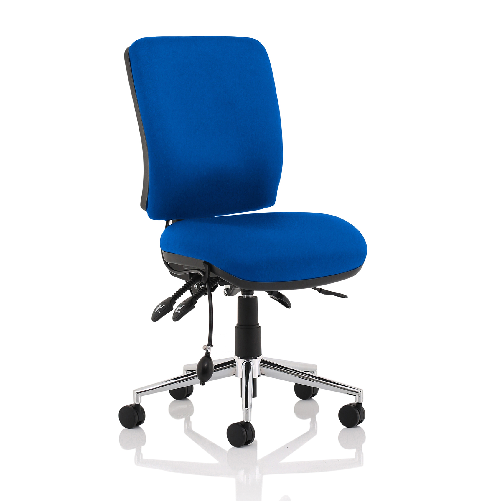Task seating Sonix Chiro Medium Back No Arms Blue Ref OP000248