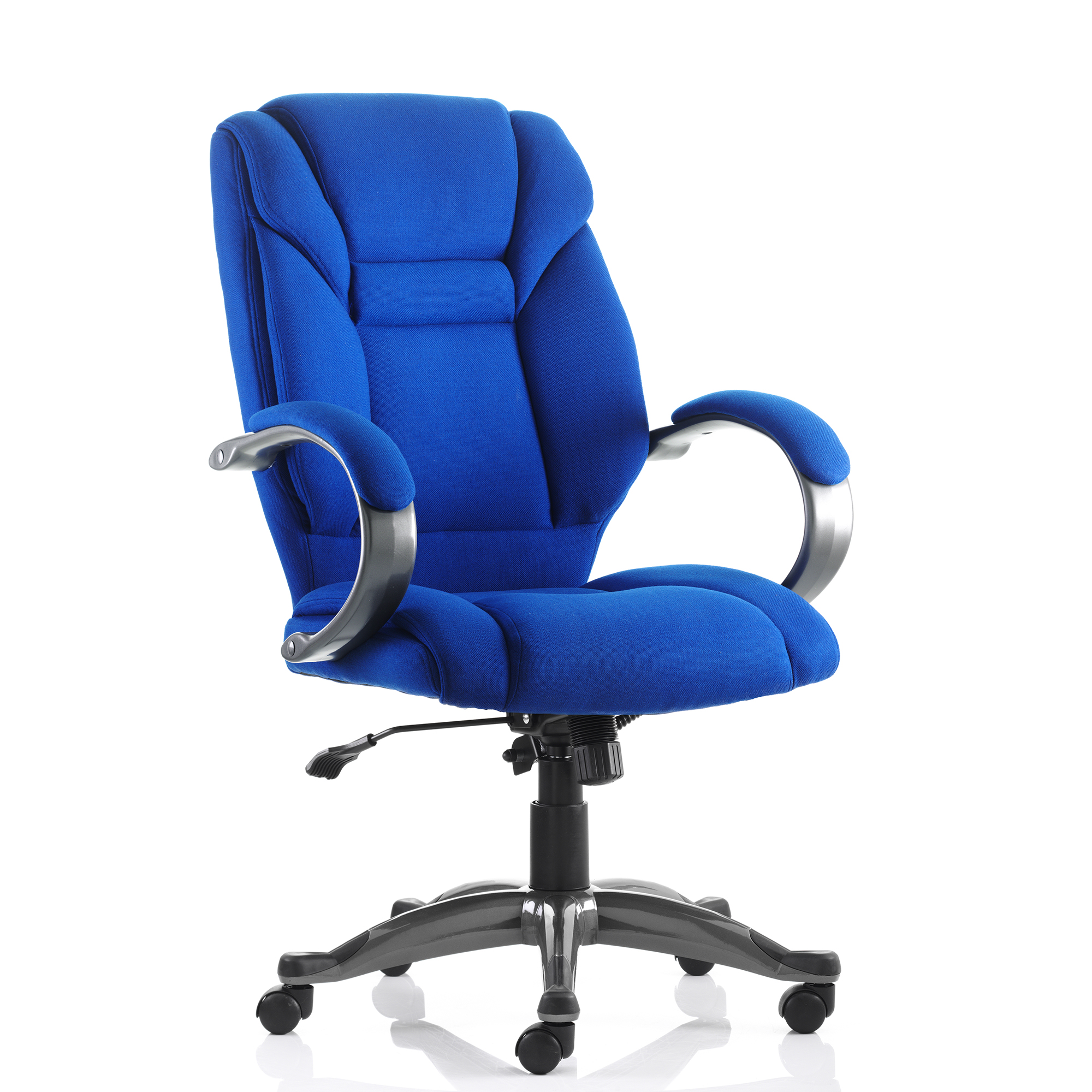 Trexus Galloway Executive Chair With Arms Fabric Blue Ref EX000031