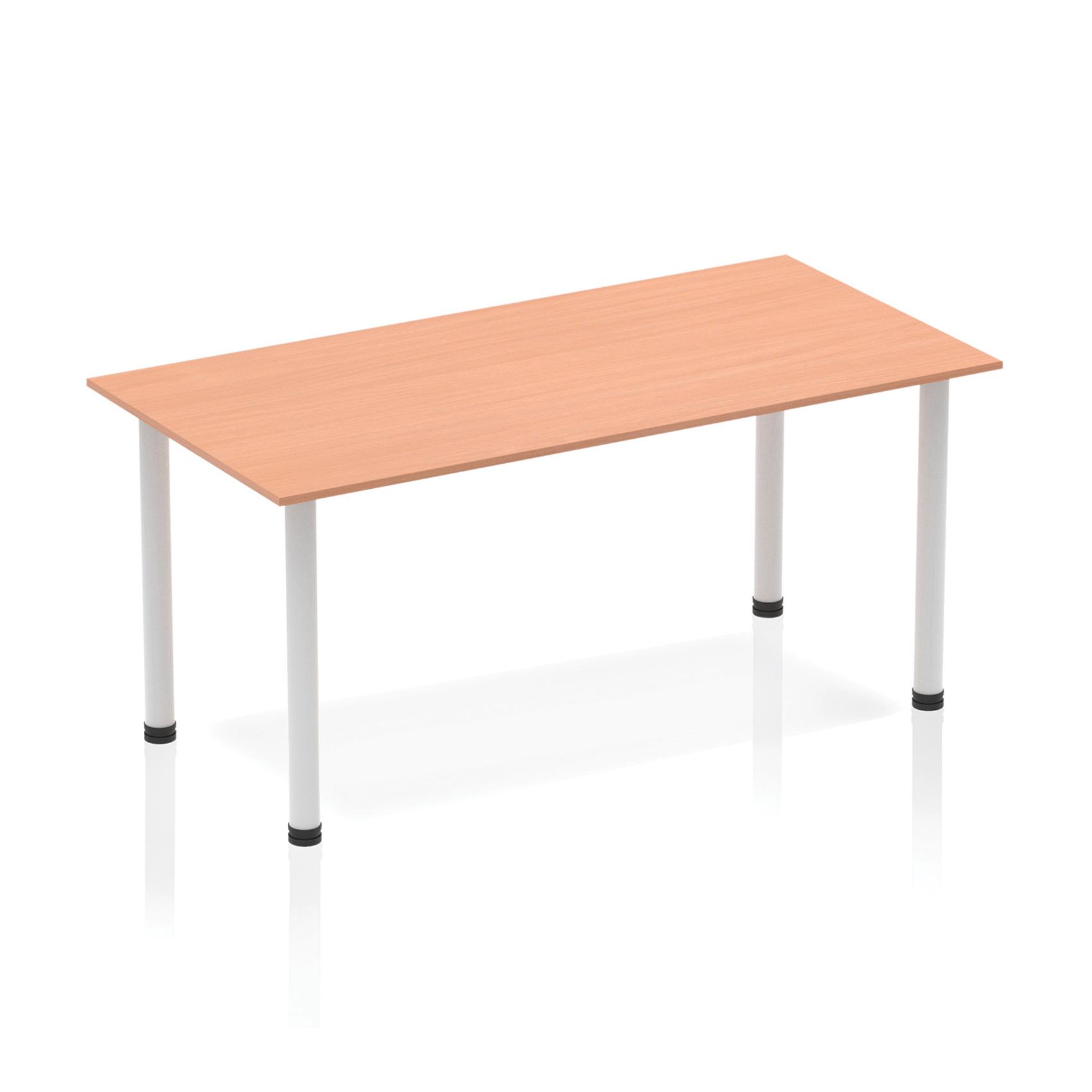 Trexus Straight Table Post Leg Silver 1400 Beech Ref BF00167