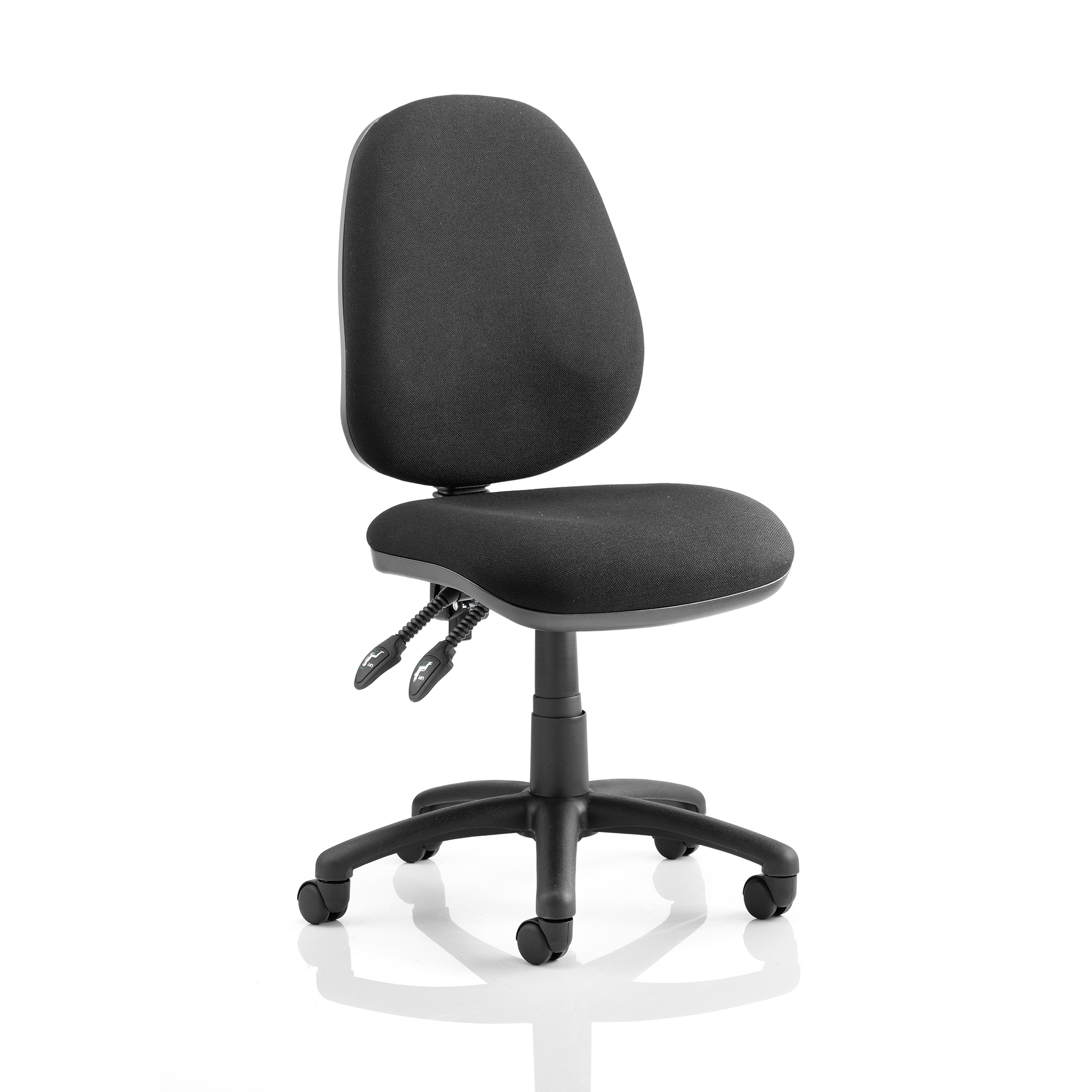 Trexus Luna II Lever Task Operator Chair Without Arms Black Ref OP000076