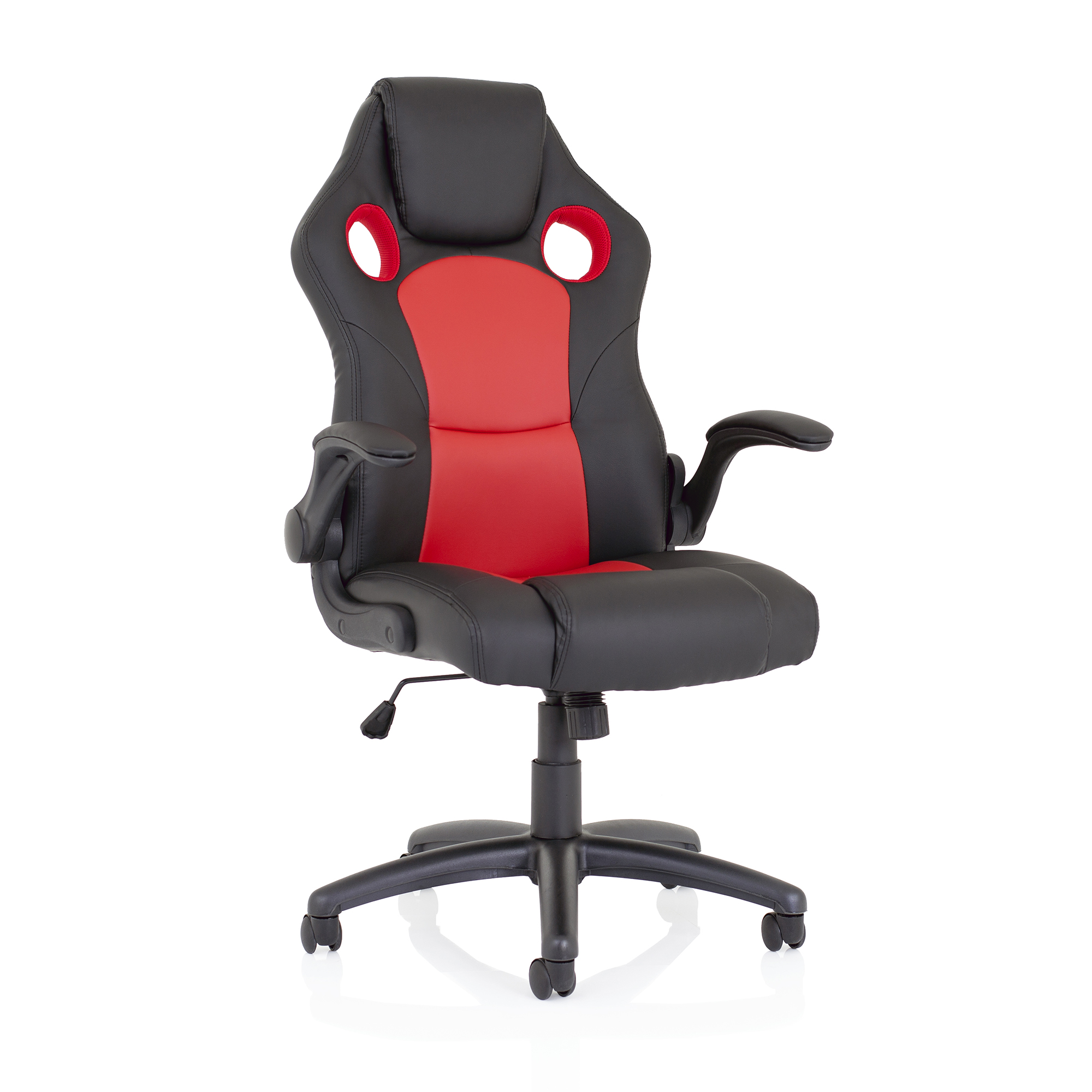 Trexus Enzo Racing Chair Bonded Leather Red and Black Ref EX000208