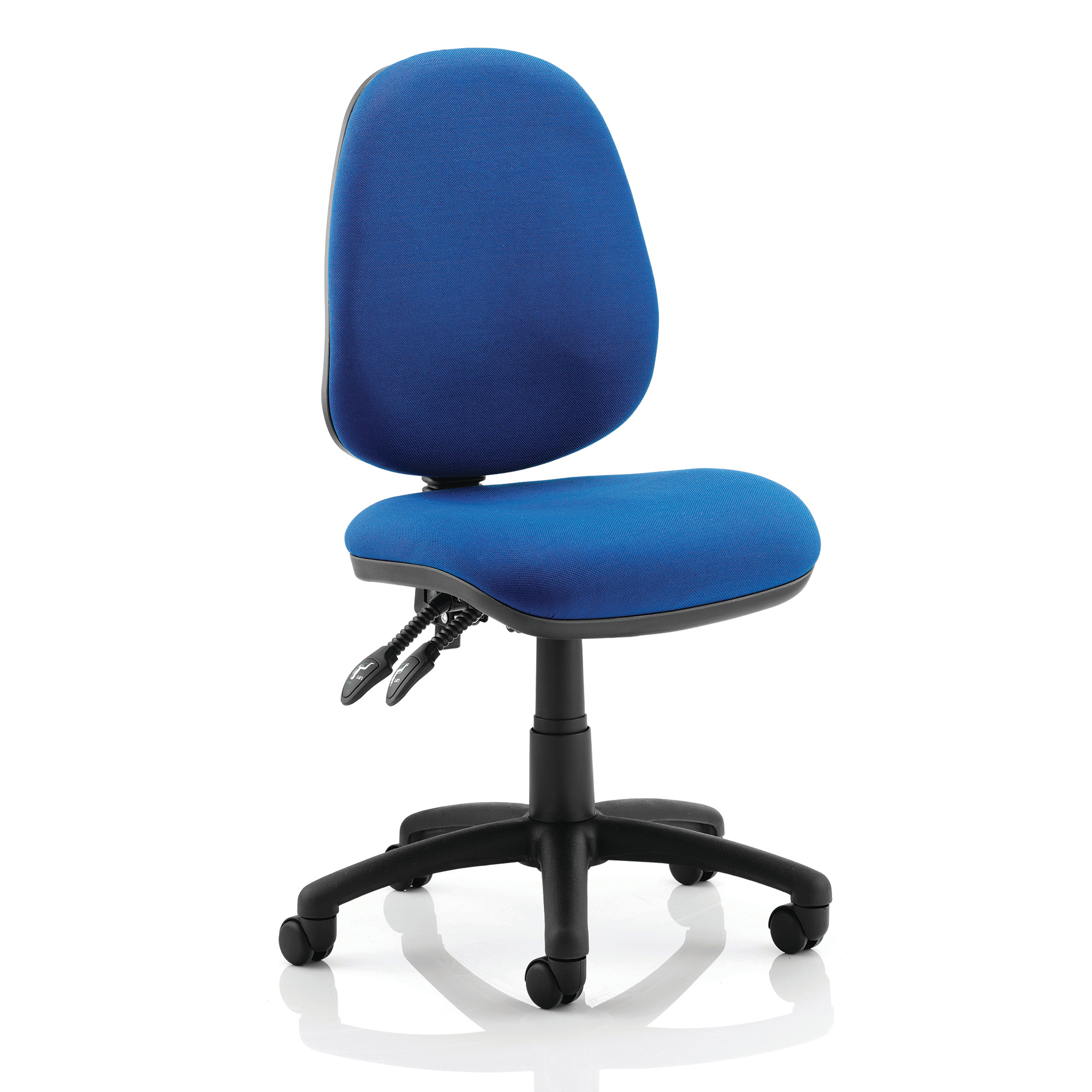 Trexus Luna II Lever Task Operator Chair Without Arms Blue Ref OP000077