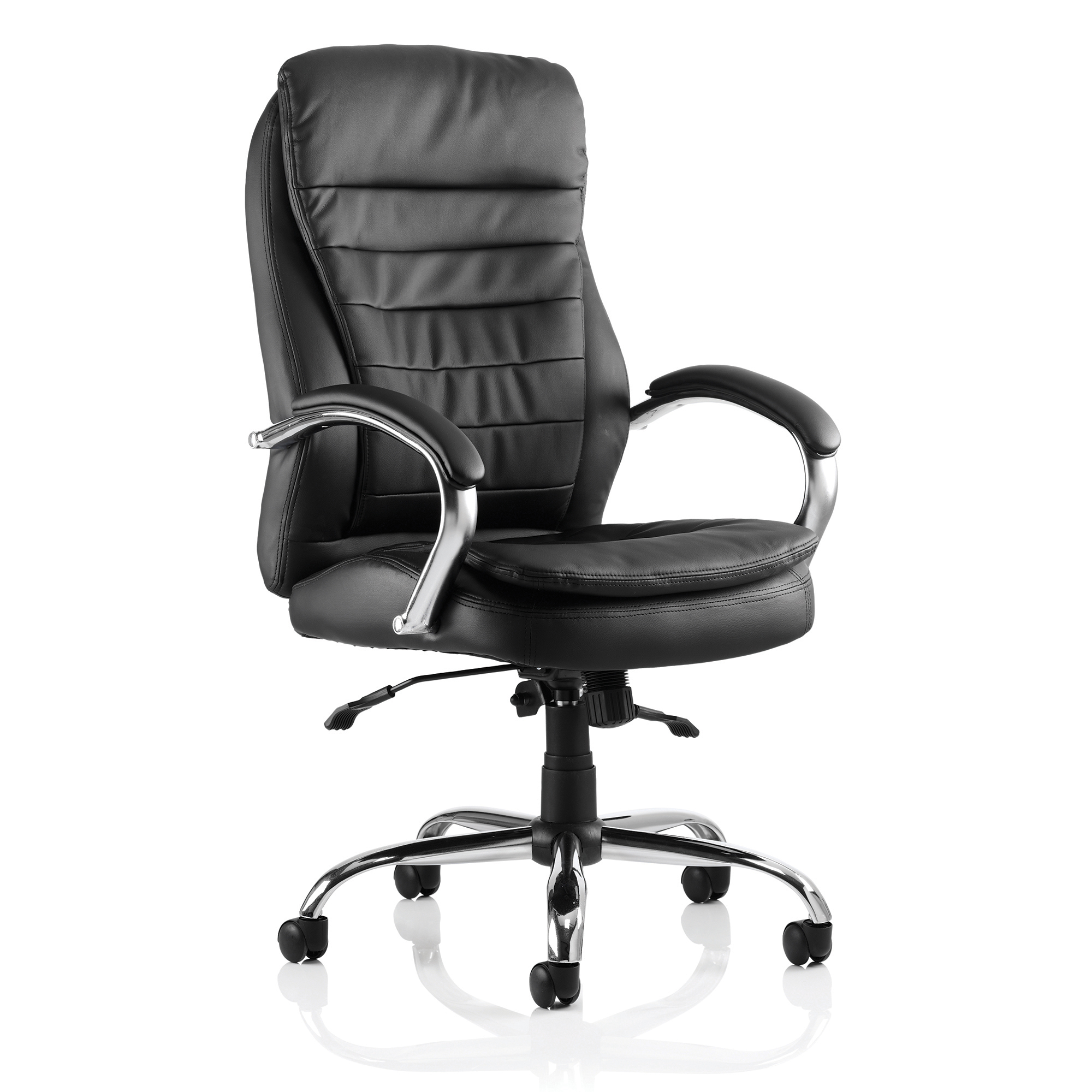 Trexus Rocky Executive Chair High Back With Arms Leather Black Ref EX000061