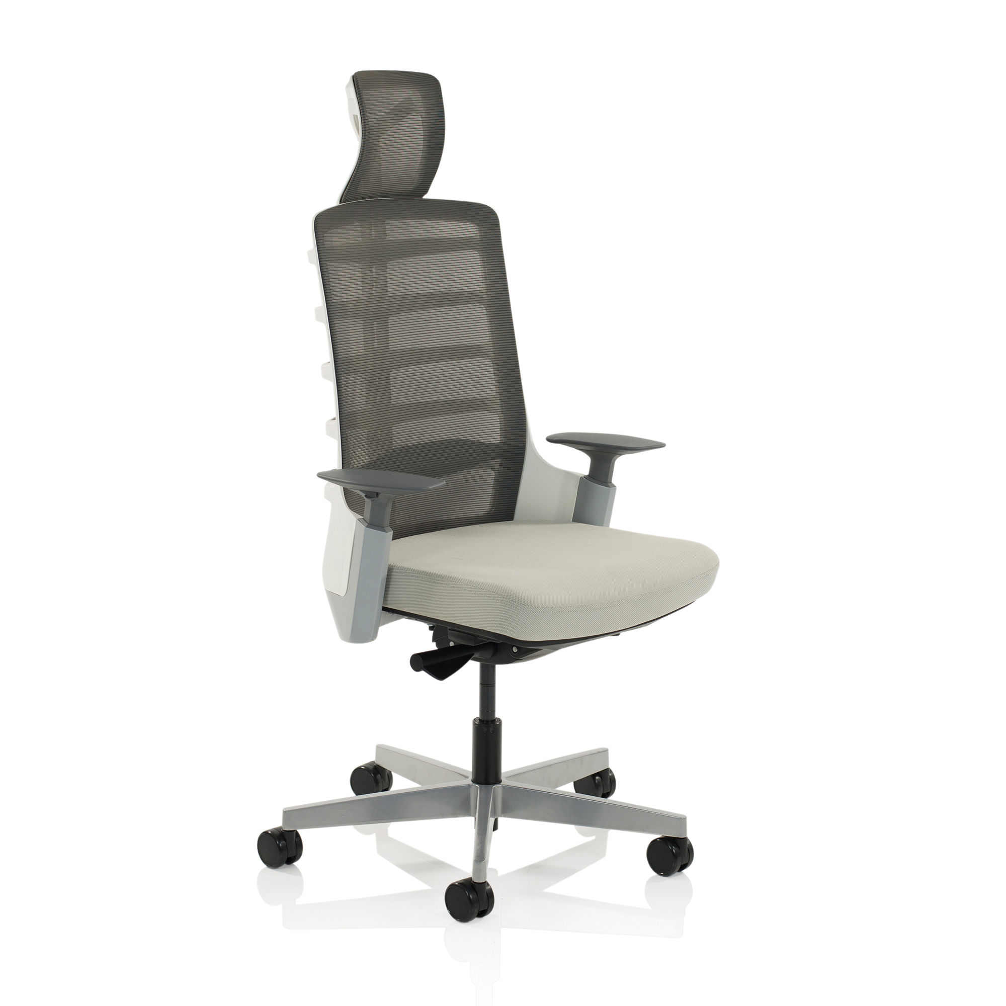 Adroit Exo Posture Chair Mesh Back With Fabric Seat Charcoal Grey Light Grey Ref EX000194
