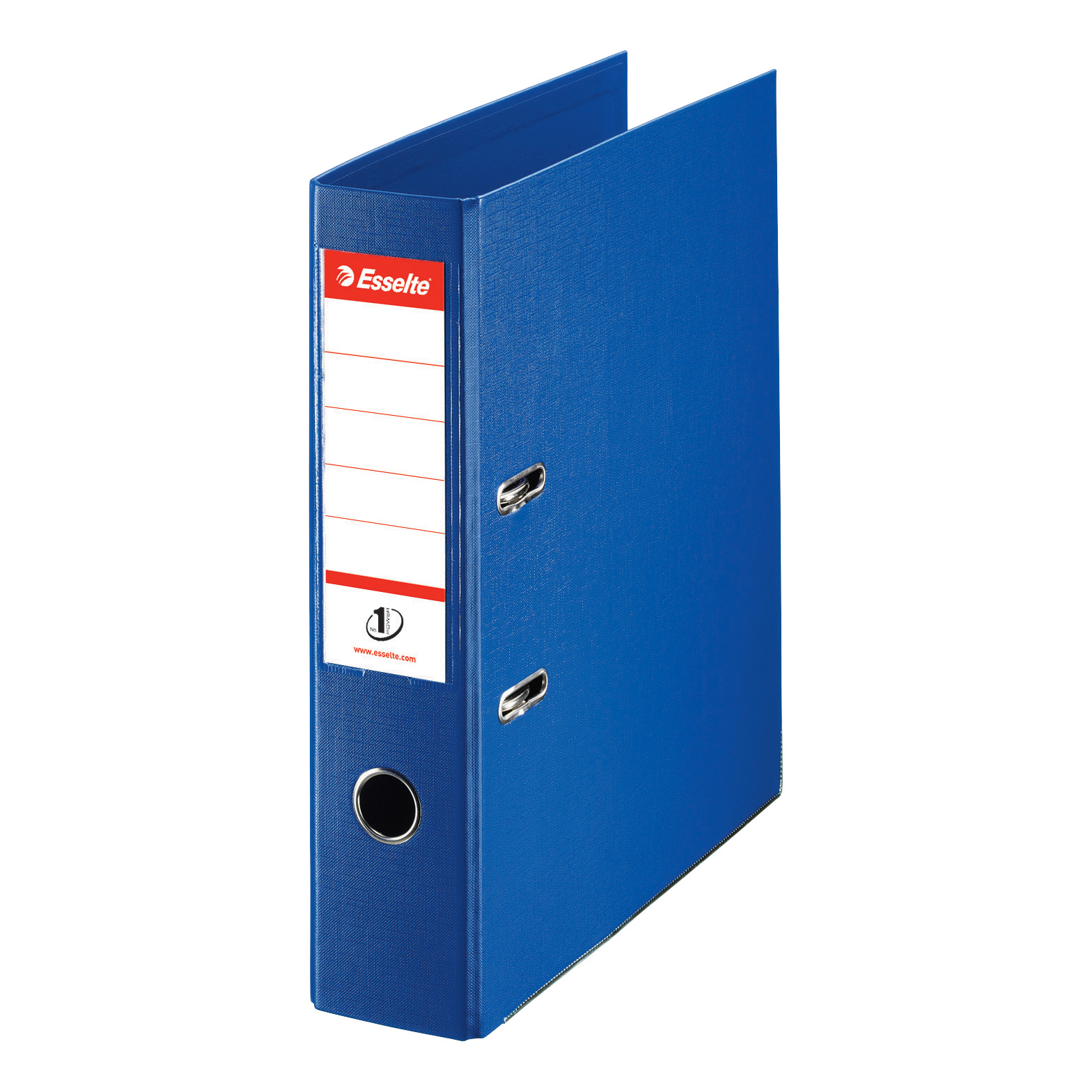 Esselte No. 1 Power Lever Arch File PP Slotted 75mm Spine A4 Blue Ref 811350 [Pack 10]