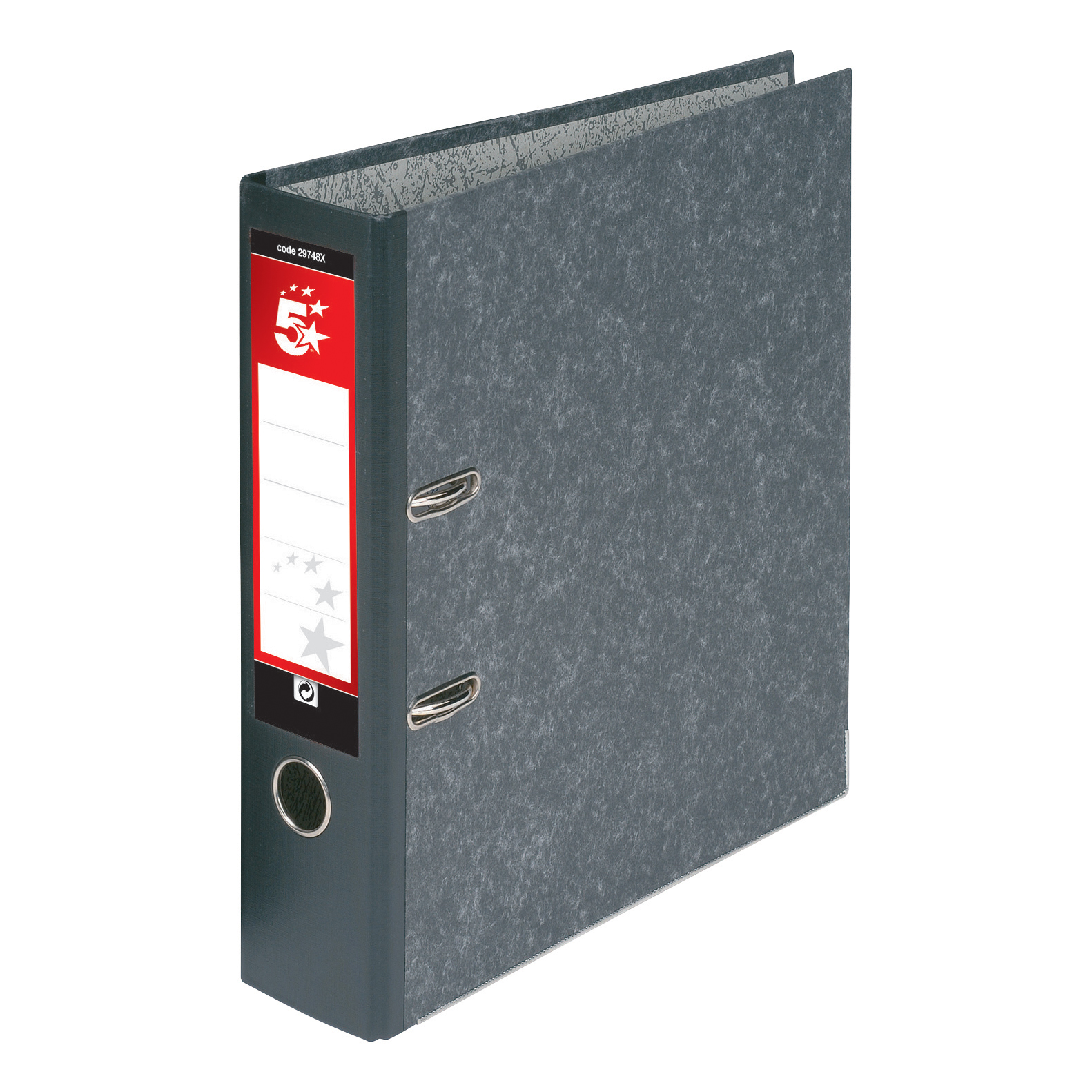 Lever Arch Files 5 Star Office Lever Arch File 70mm Foolscap Cloudy Grey Pack 10