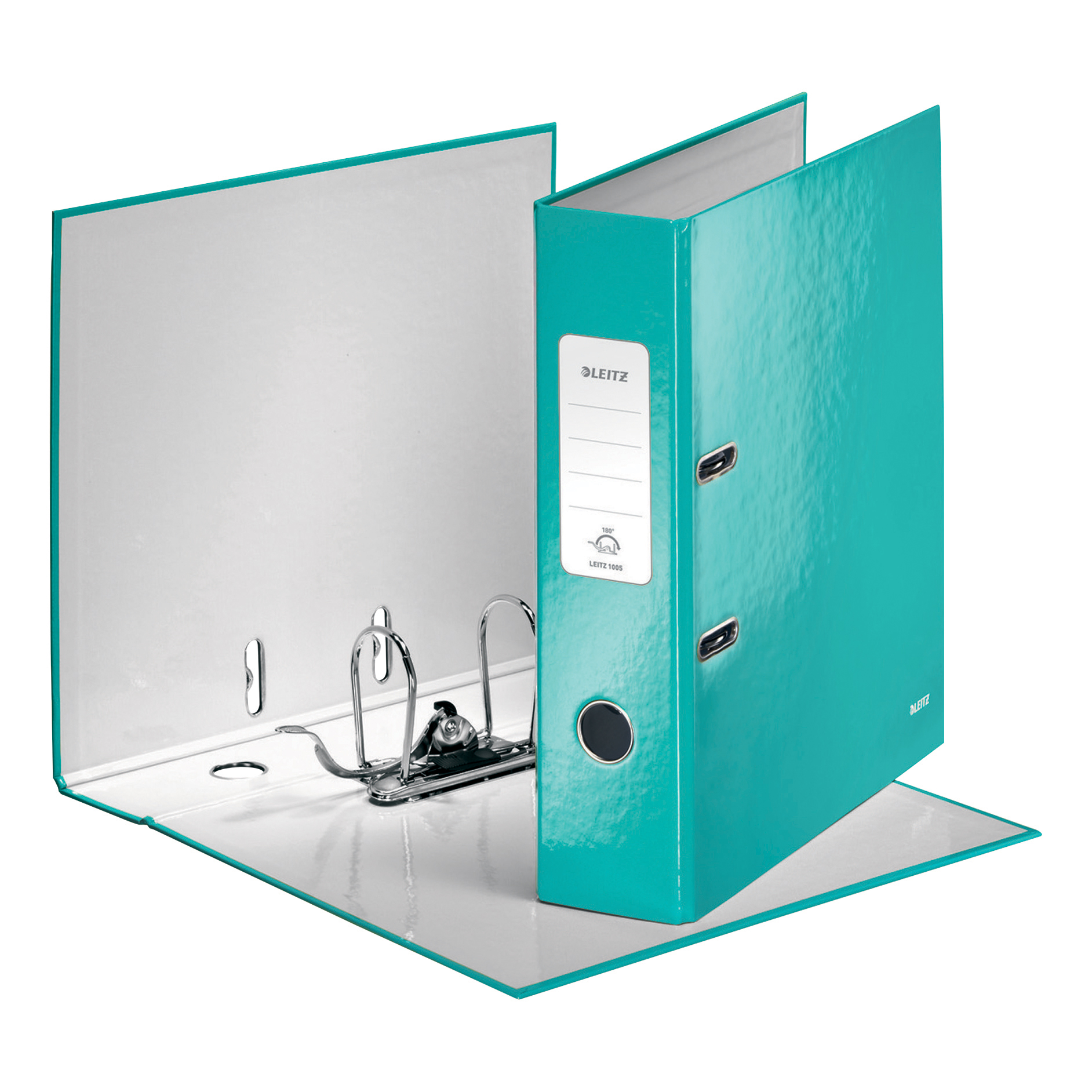 Leitz WOW Lever Arch File 80mm Spine for 600shts A4 Ice Blue Ref 10050051 [Pack 10][REDEMPTION] Oct-Dec19