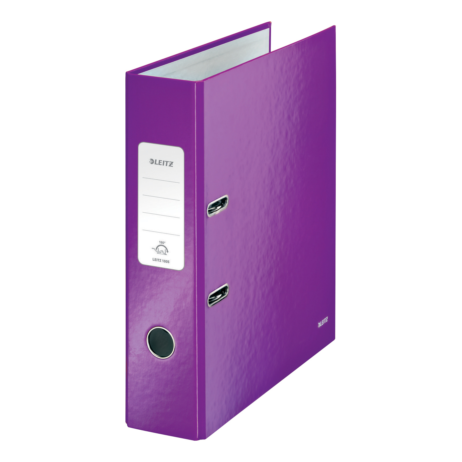 Leitz WOW Lever Arch File 80mm Spine for 600 Sheets A4 Purple Ref 10050062 Pack 10