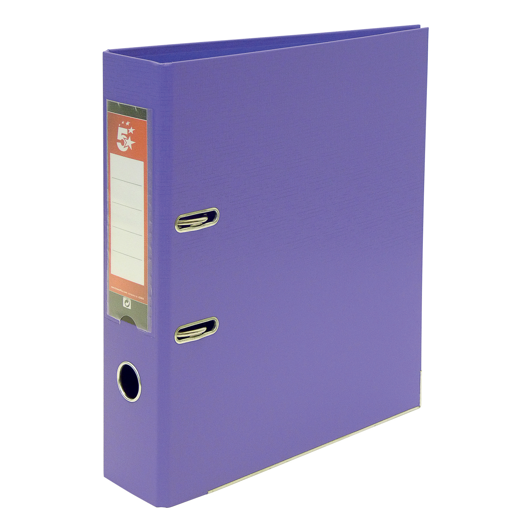 Lever Arch Files 5 Star Office Lever Arch File Polypropylene Capacity 70mm A4 Purple Pack 10