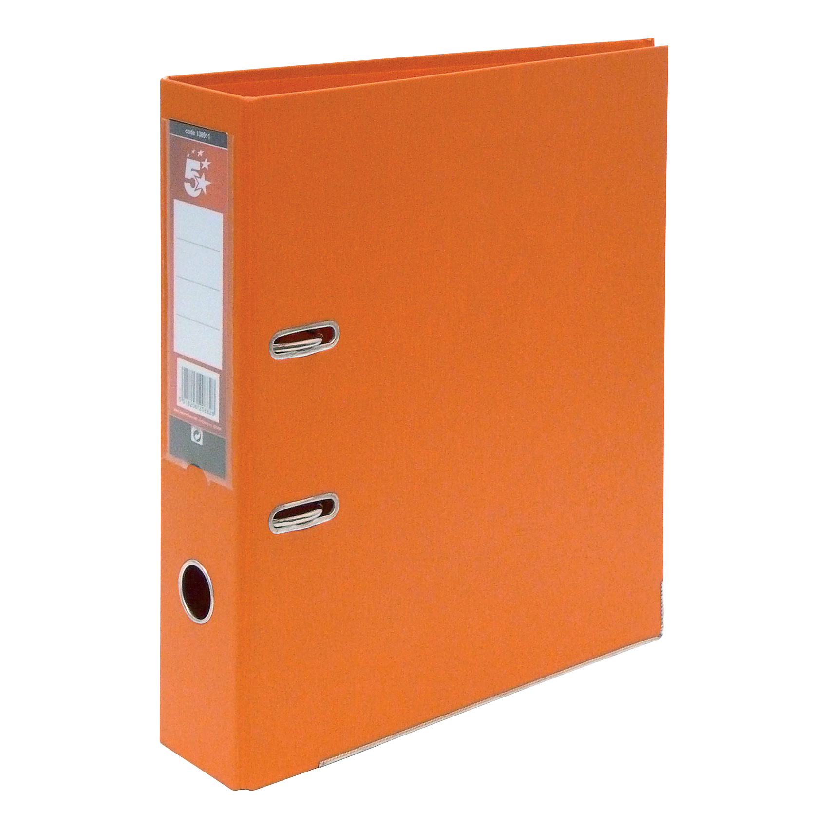 5 Star Office Lever Arch File Polypropylene Capacity 70mm A4 Orange Pack 10