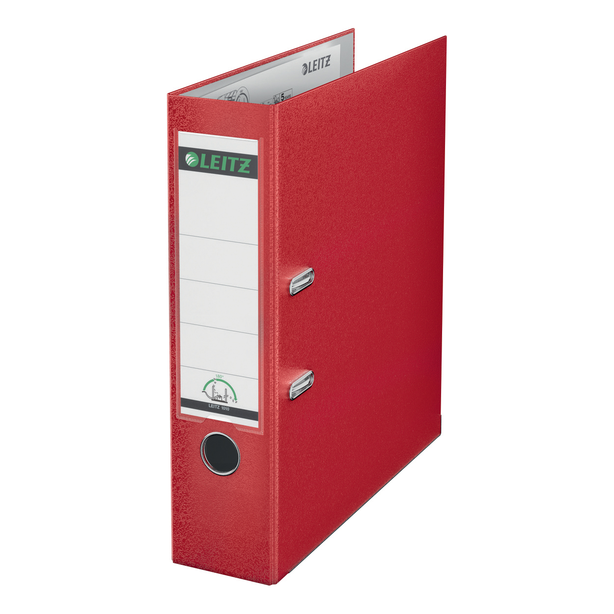 Leitz Lever Arch File Plastic 80mm Spine Foolscap Red Ref 11101025 Pack 10