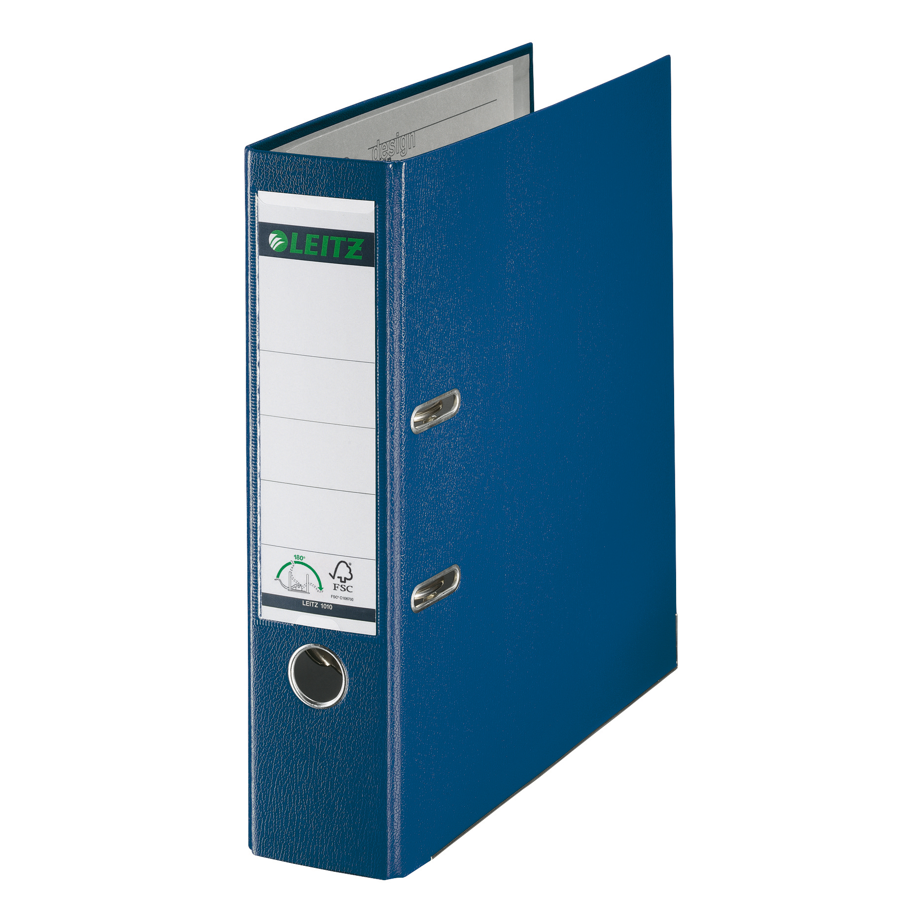 Leitz Lever Arch File Plastic 80mm Spine Foolscap Blue Ref 11101135 [Pack 10]