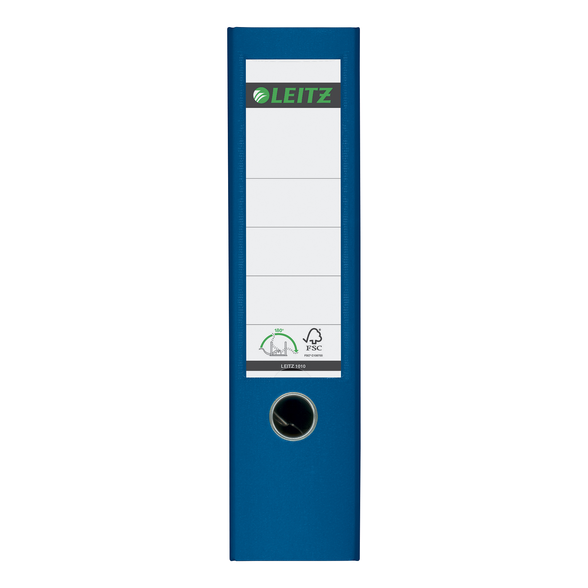 Leitz FSC Lever Arch File Plastic 80mm Spine A4 Blue Ref 10101035 [Pack 10] [REDEMPTION] Jan-Mar20