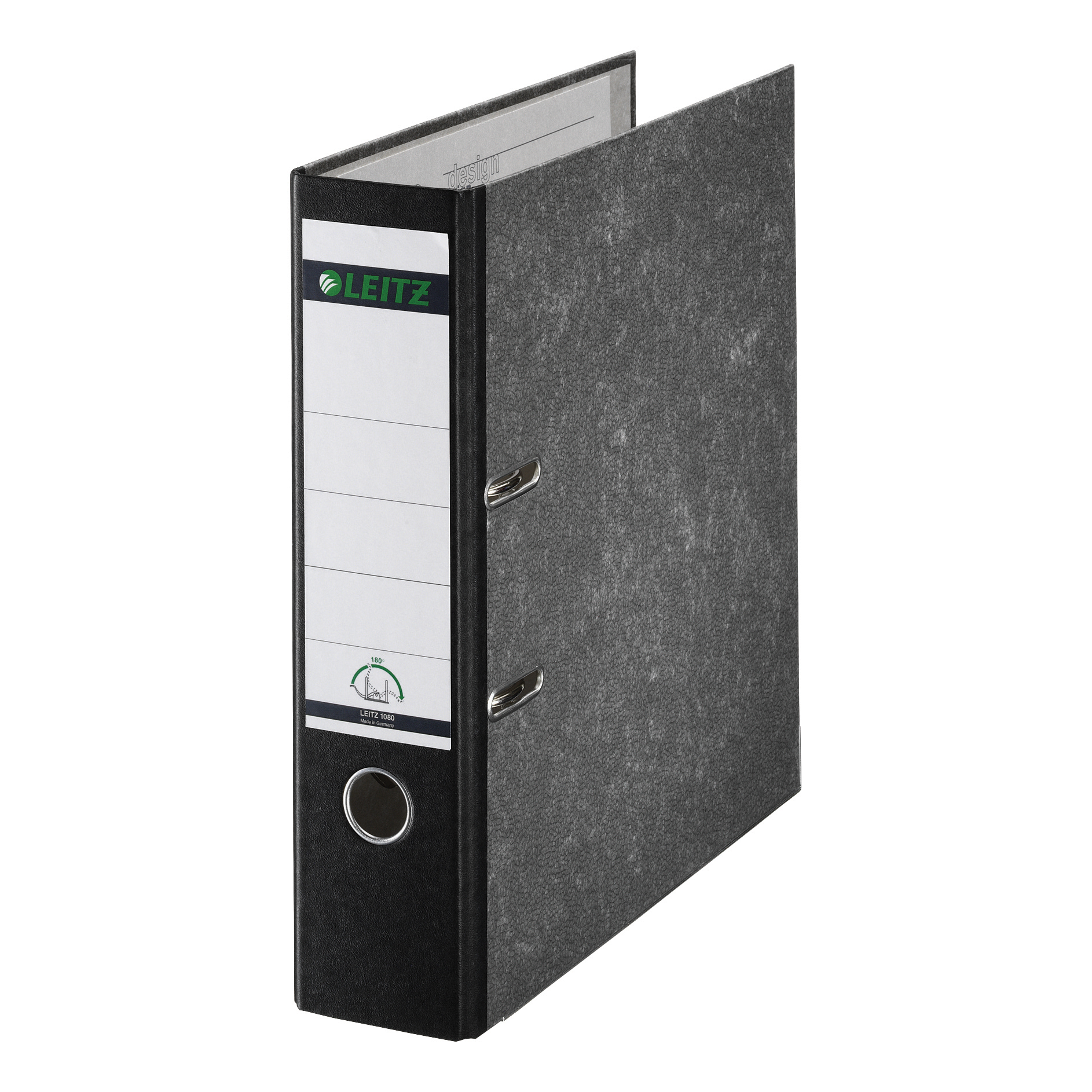 Leitz Standard Lever Arch File 80mm Spine Foolscap Black Ref 1082-95 [Pack 10] [REDEMPTION] Jan-Mar20